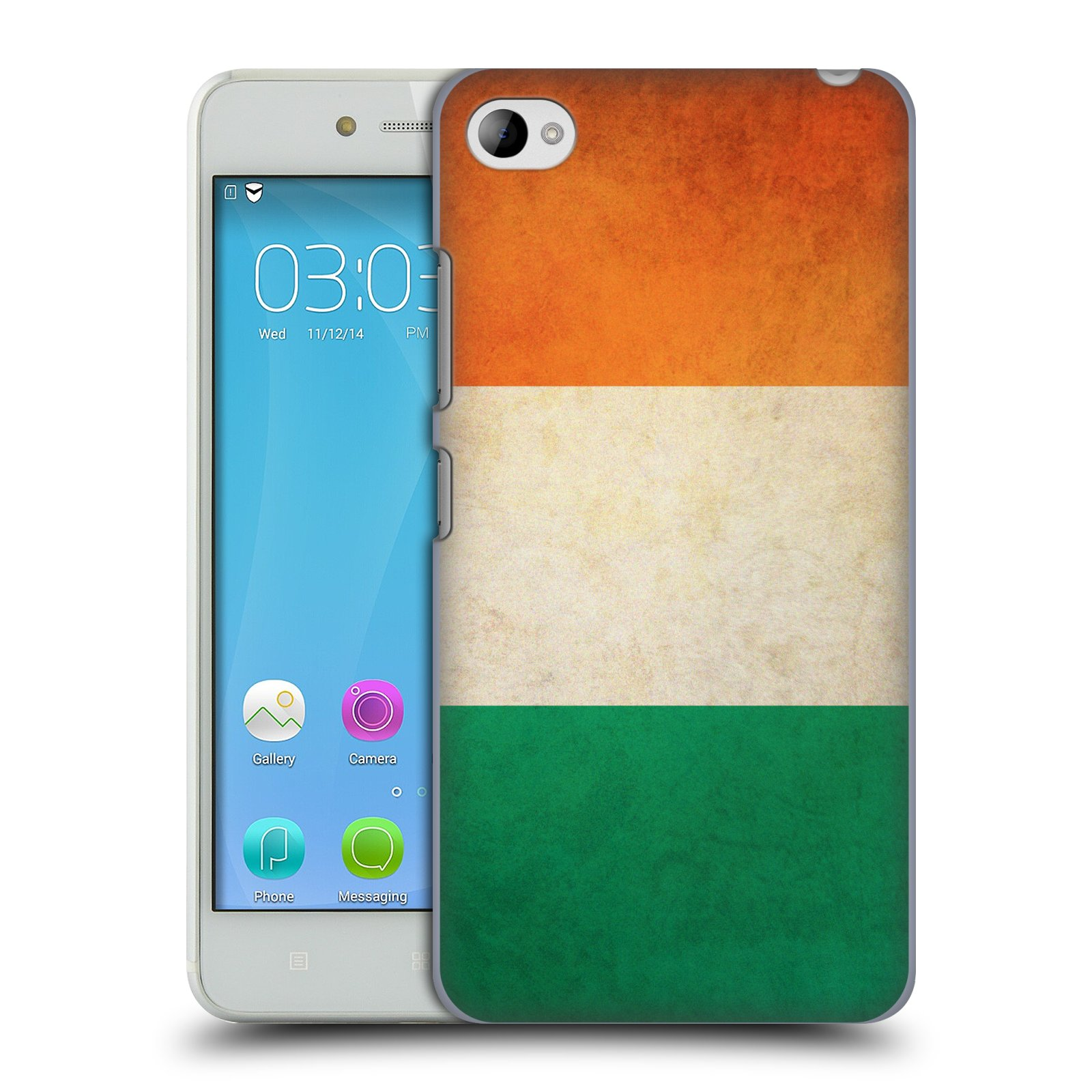 HEAD CASE pevný plastový obal na mobil LENOVO S90 vzor VINTAGE VLAJKY IRSKO
