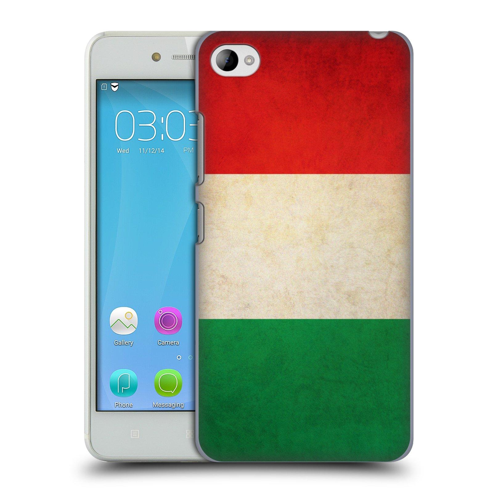 HEAD CASE pevný plastový obal na mobil LENOVO S90 vzor VINTAGE VLAJKY ITÁLIE