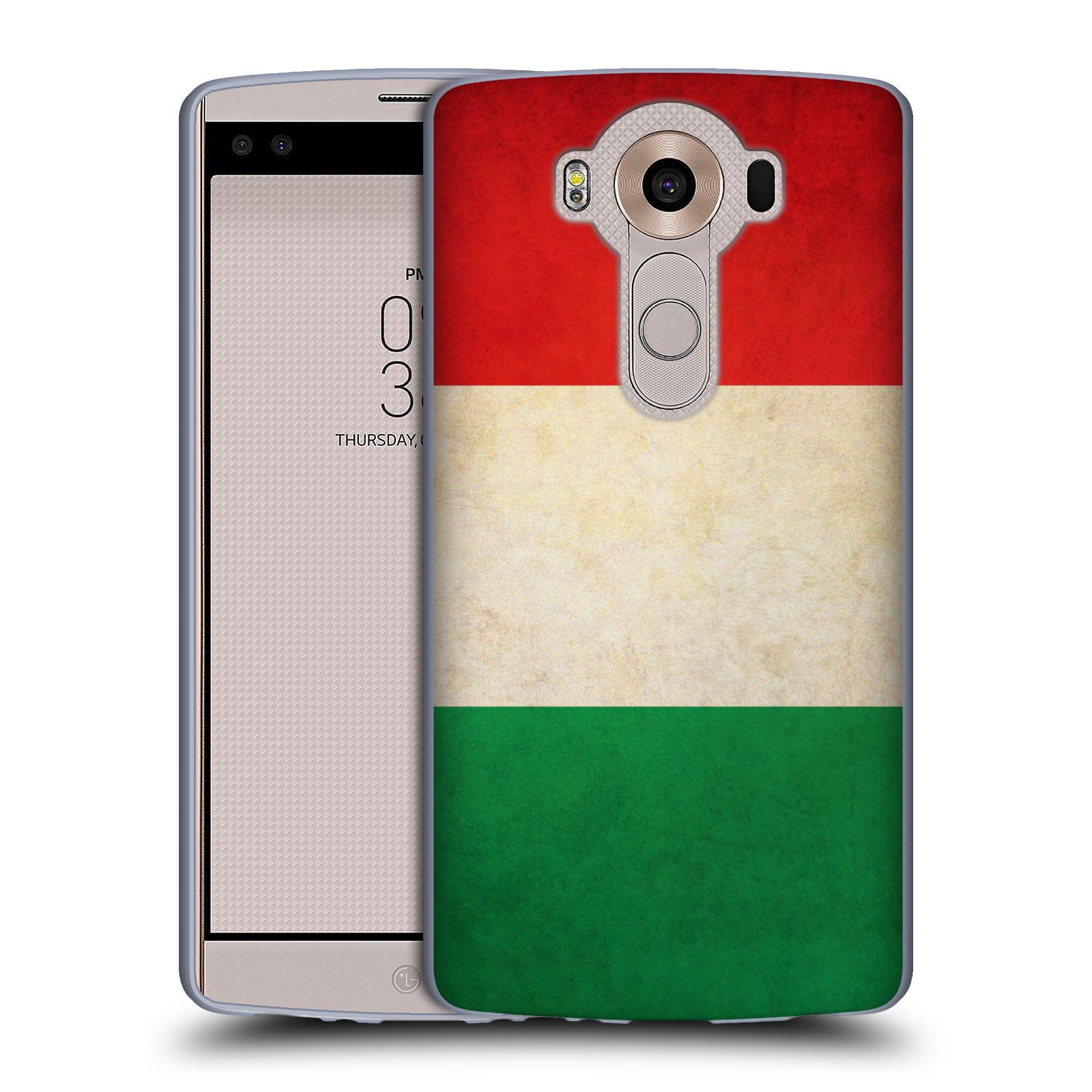 HEAD CASE silikonový obal na mobil LG V10 (H960A) vzor VINTAGE VLAJKY ITÁLIE