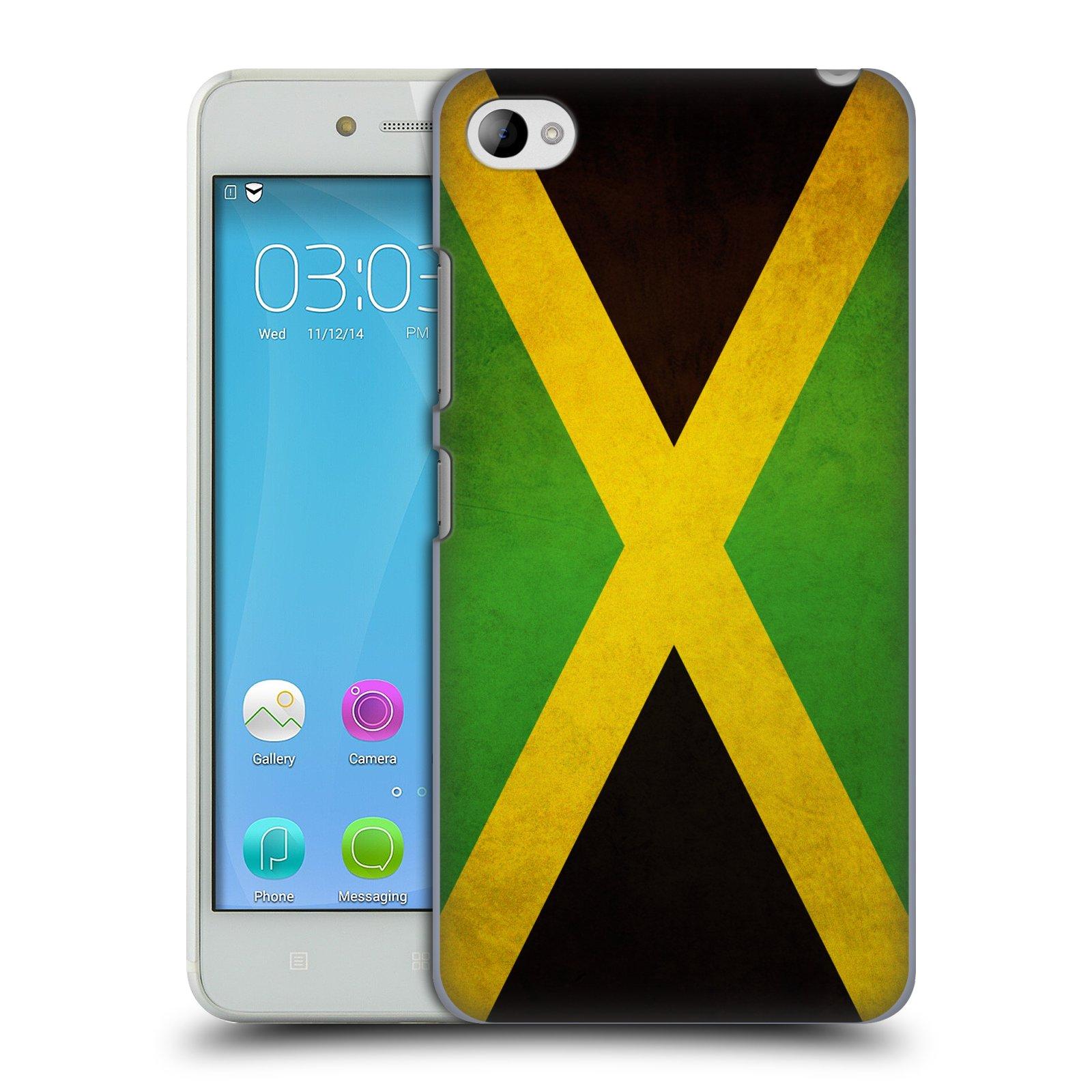 HEAD CASE pevný plastový obal na mobil LENOVO S90 vzor VINTAGE VLAJKY JAMAJKA