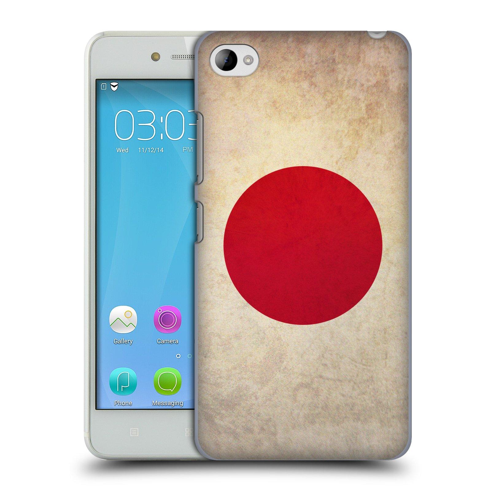 HEAD CASE pevný plastový obal na mobil LENOVO S90 vzor VINTAGE VLAJKY JAPONSKO