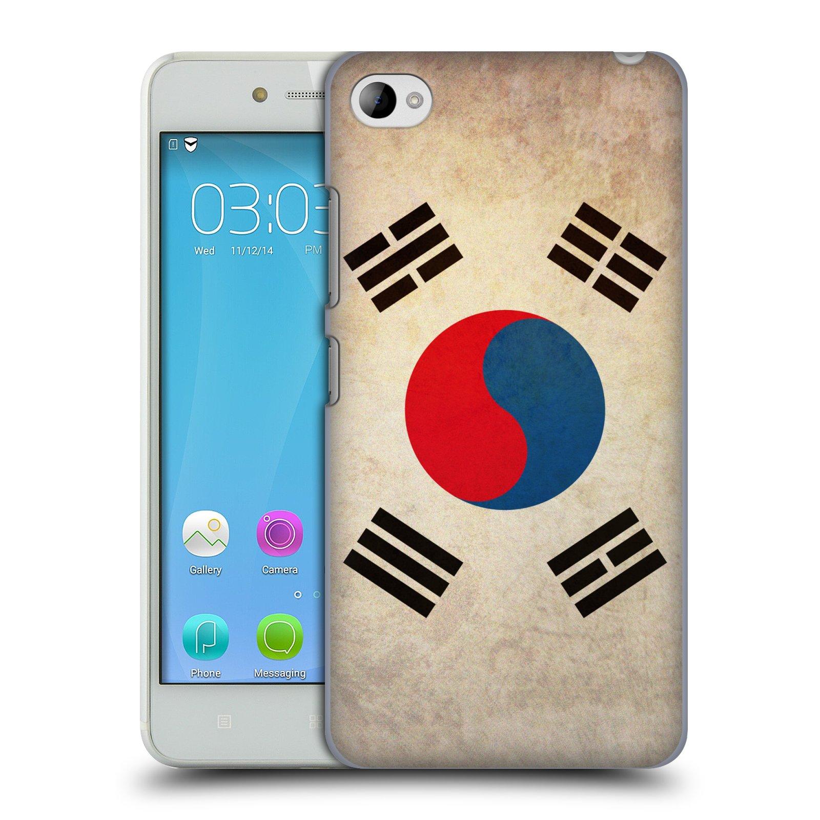 HEAD CASE pevný plastový obal na mobil LENOVO S90 vzor VINTAGE VLAJKY JIŽNÍ KOREA