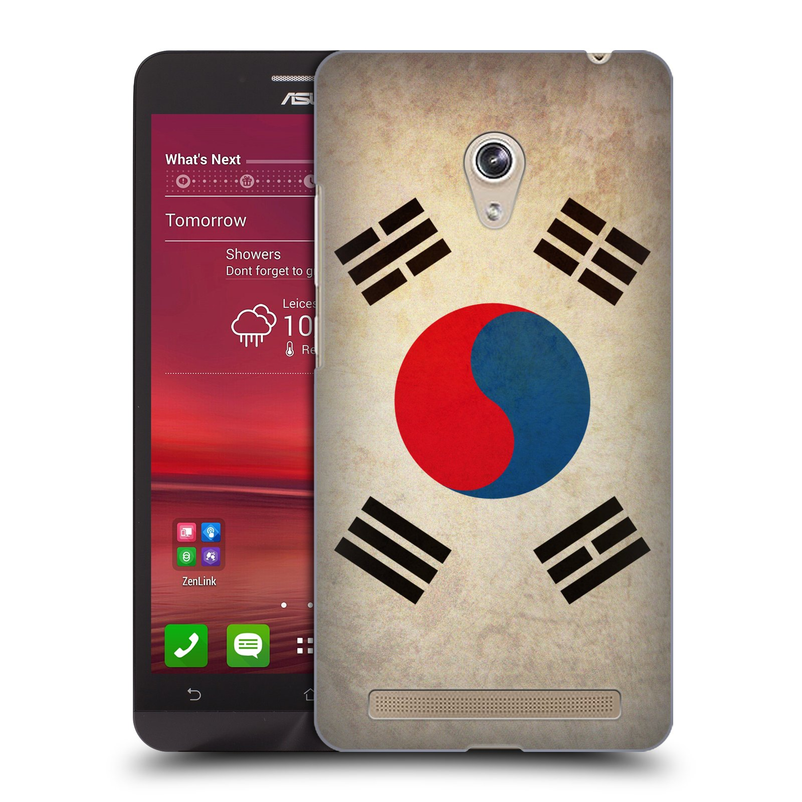 HEAD CASE plastový obal na mobil Asus Zenfone 6 vzor VINTAGE VLAJKY JIŽNÍ KOREA