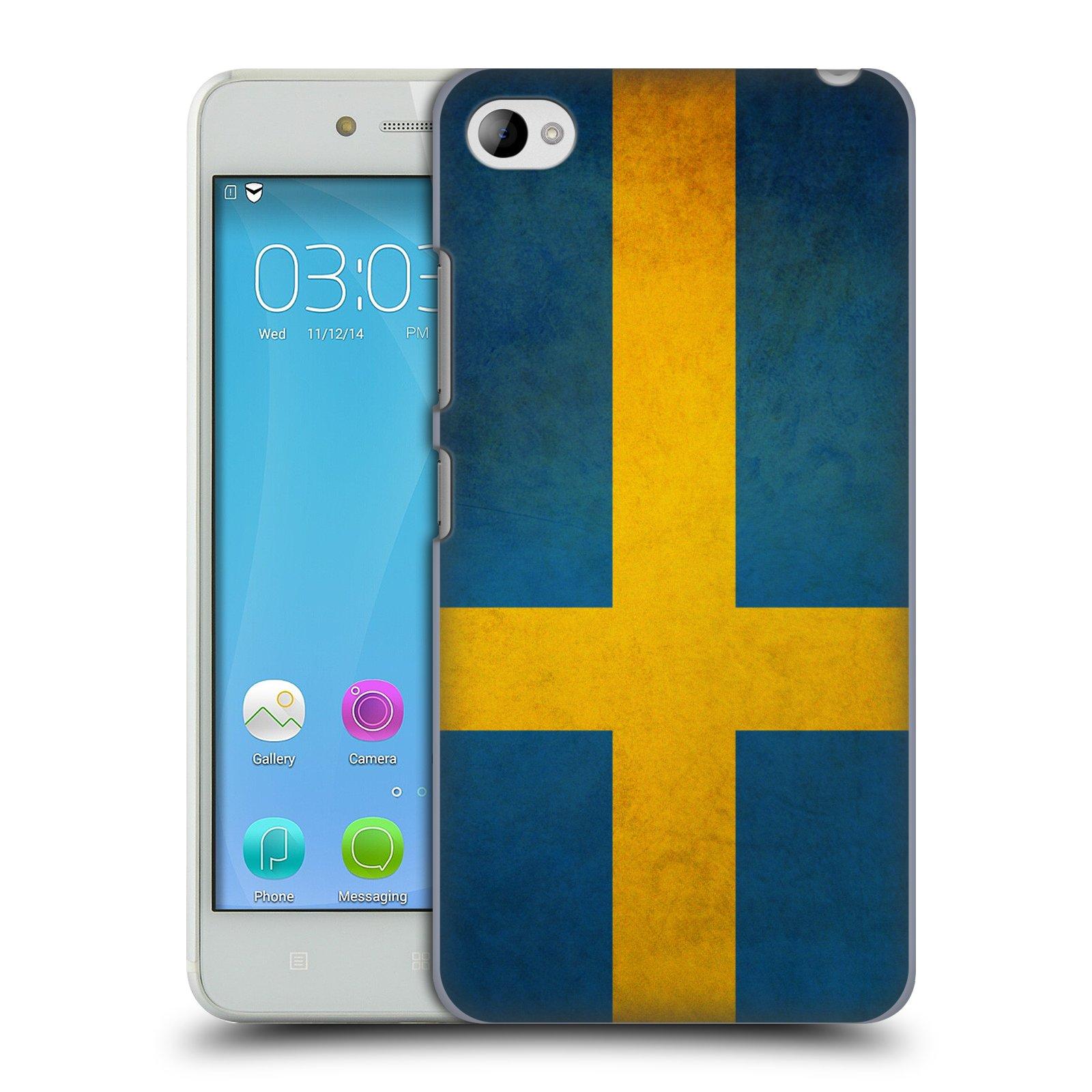 HEAD CASE pevný plastový obal na mobil LENOVO S90 vzor VINTAGE VLAJKY ŠVÉDSKO