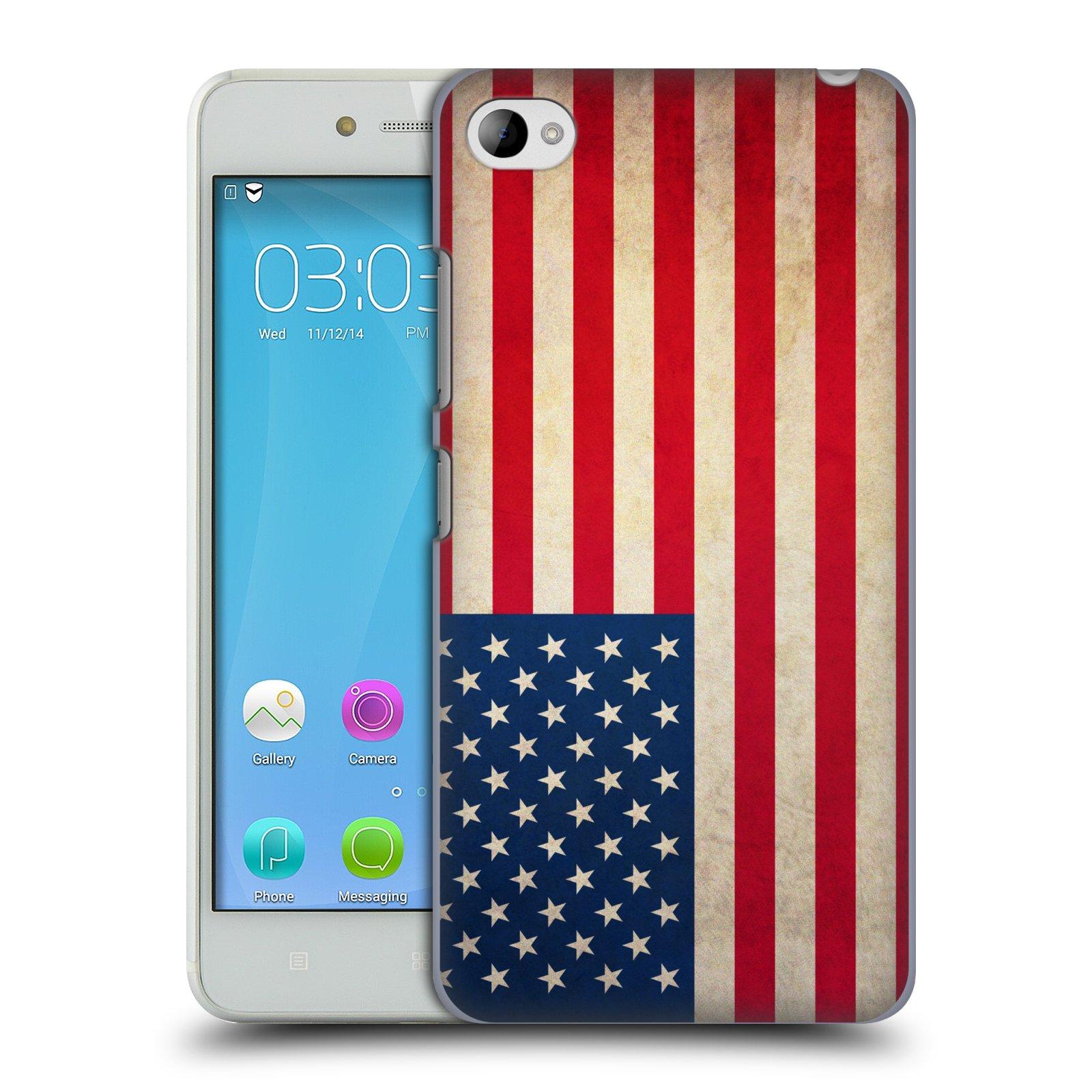 HEAD CASE pevný plastový obal na mobil LENOVO S90 vzor VINTAGE VLAJKY SPOJENÉ STÁTY USA
