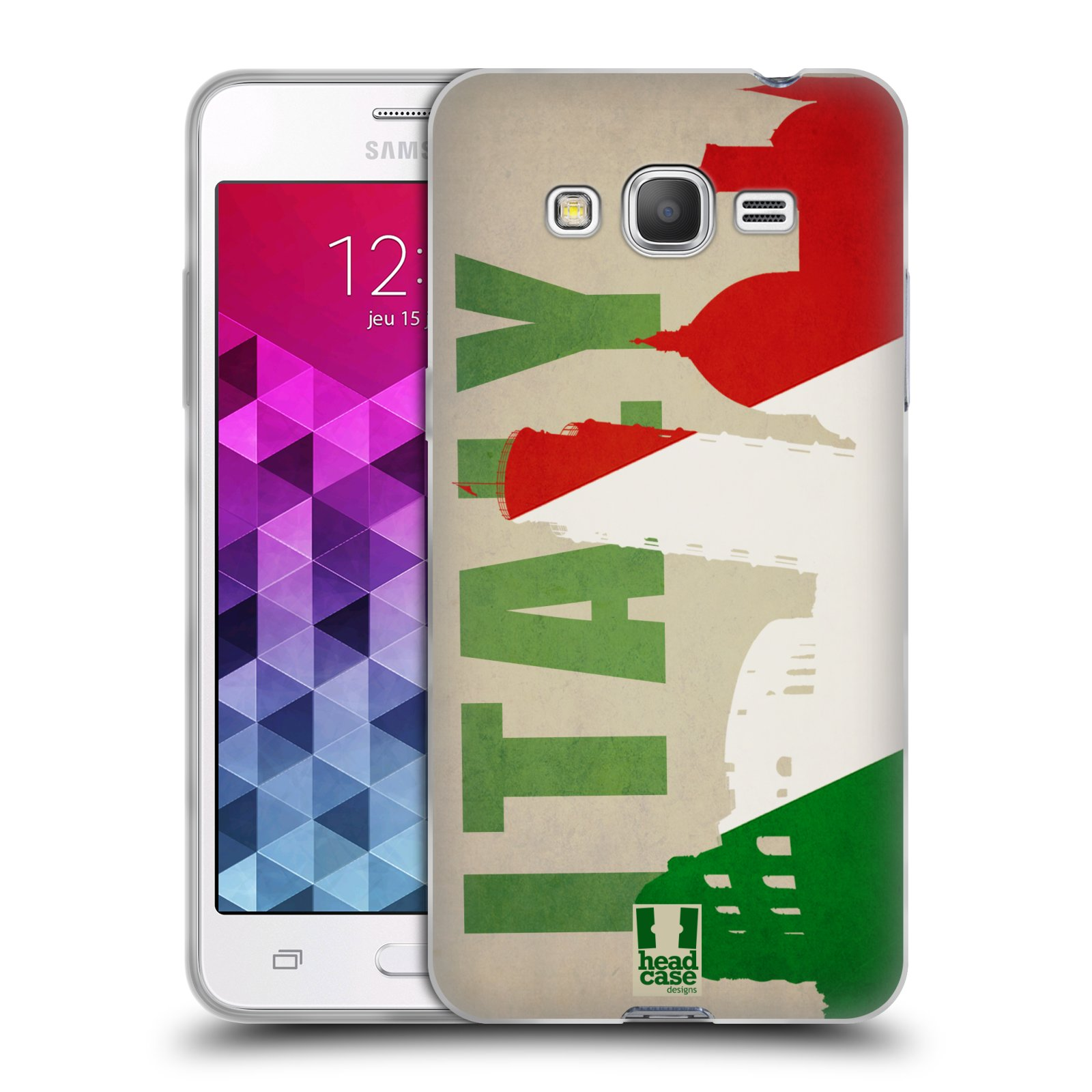 HEAD CASE FLAGS AND LANDMARKS GEL CASE FOR SAMSUNG GALAXY GRAND PRIME 3G DUOS