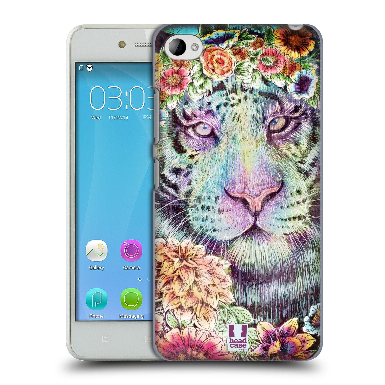 HEAD CASE pevný plastový obal na mobil LENOVO S90 vzor Květinová zvířáta TYGR
