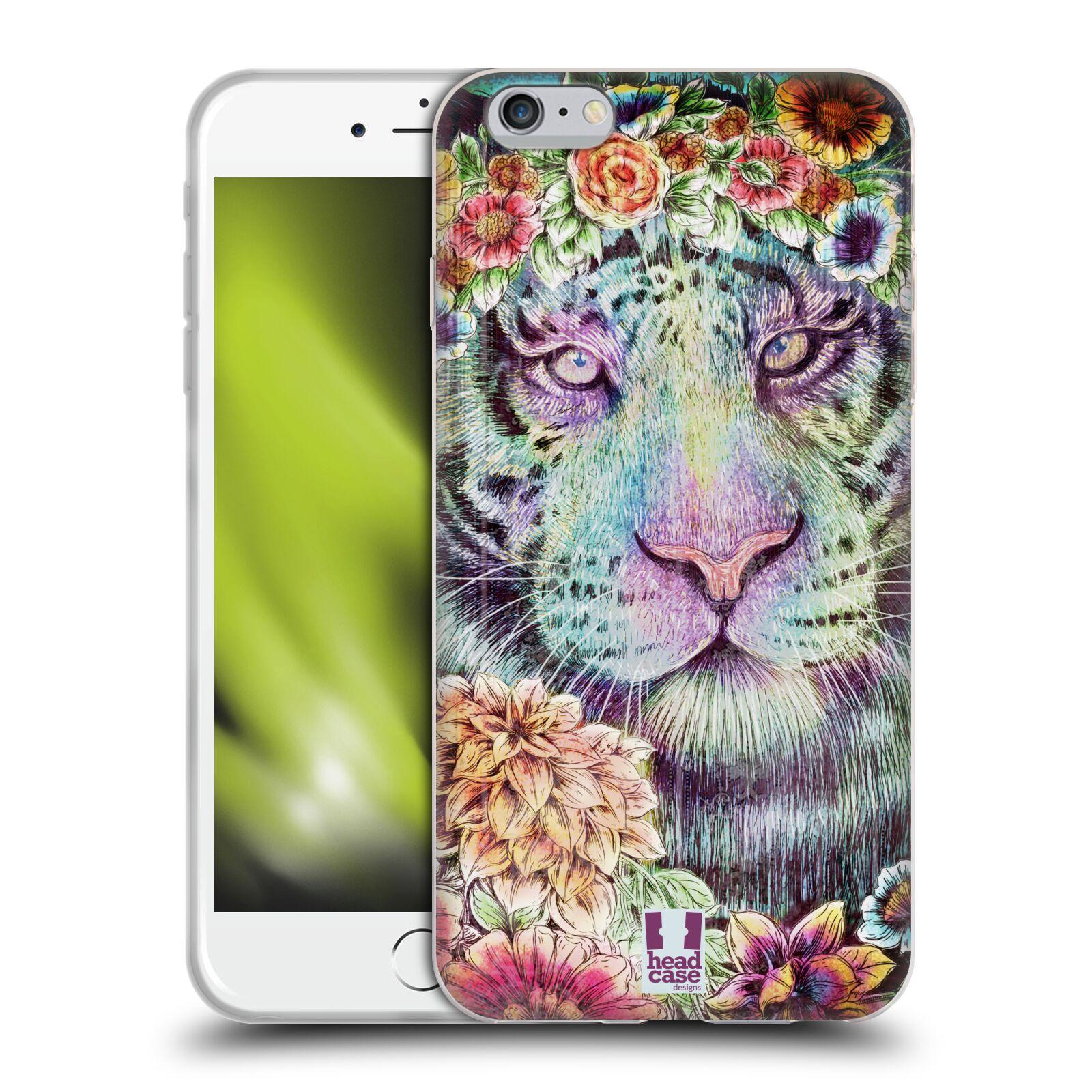 HEAD CASE silikonový obal na mobil Apple Iphone 6 PLUS/ 6S PLUS vzor Květinová zvířáta TYGR