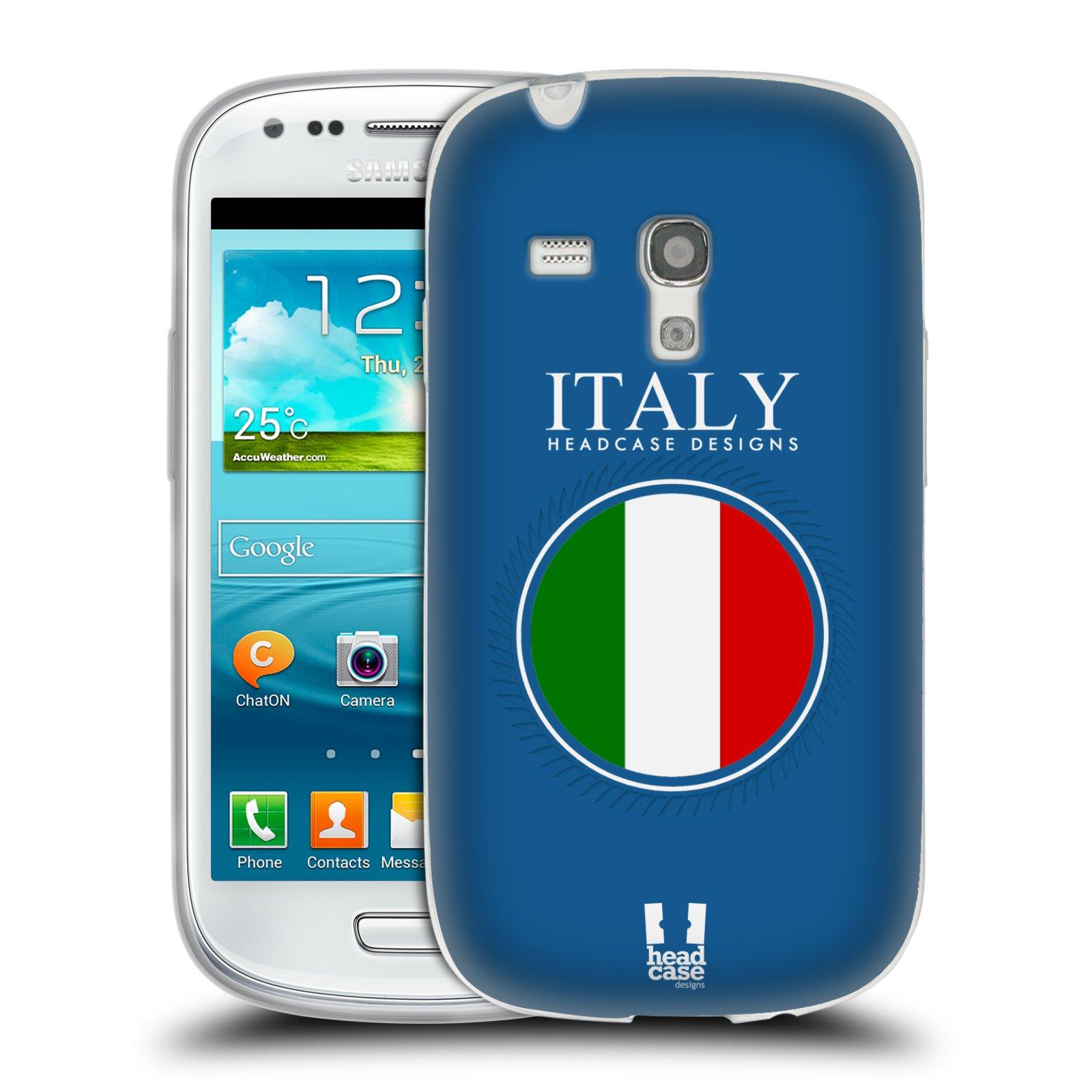 HEAD CASE silikonový obal na mobil Samsung Galaxy S3 MINI i8190 vzor Vlajky státy 2 ITÁLIE