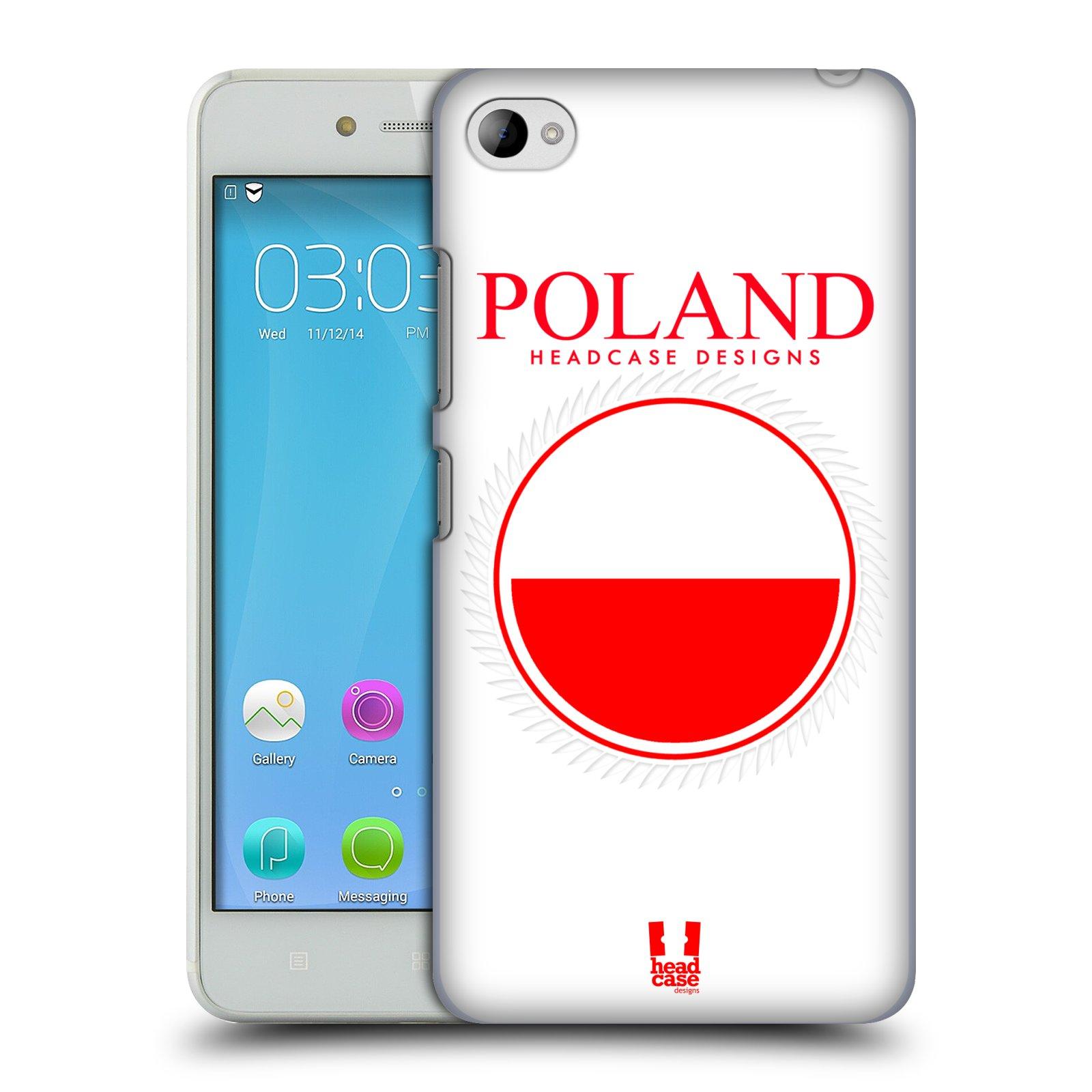 HEAD CASE pevný plastový obal na mobil LENOVO S90 vzor Vlajky státy 2 POLSKO