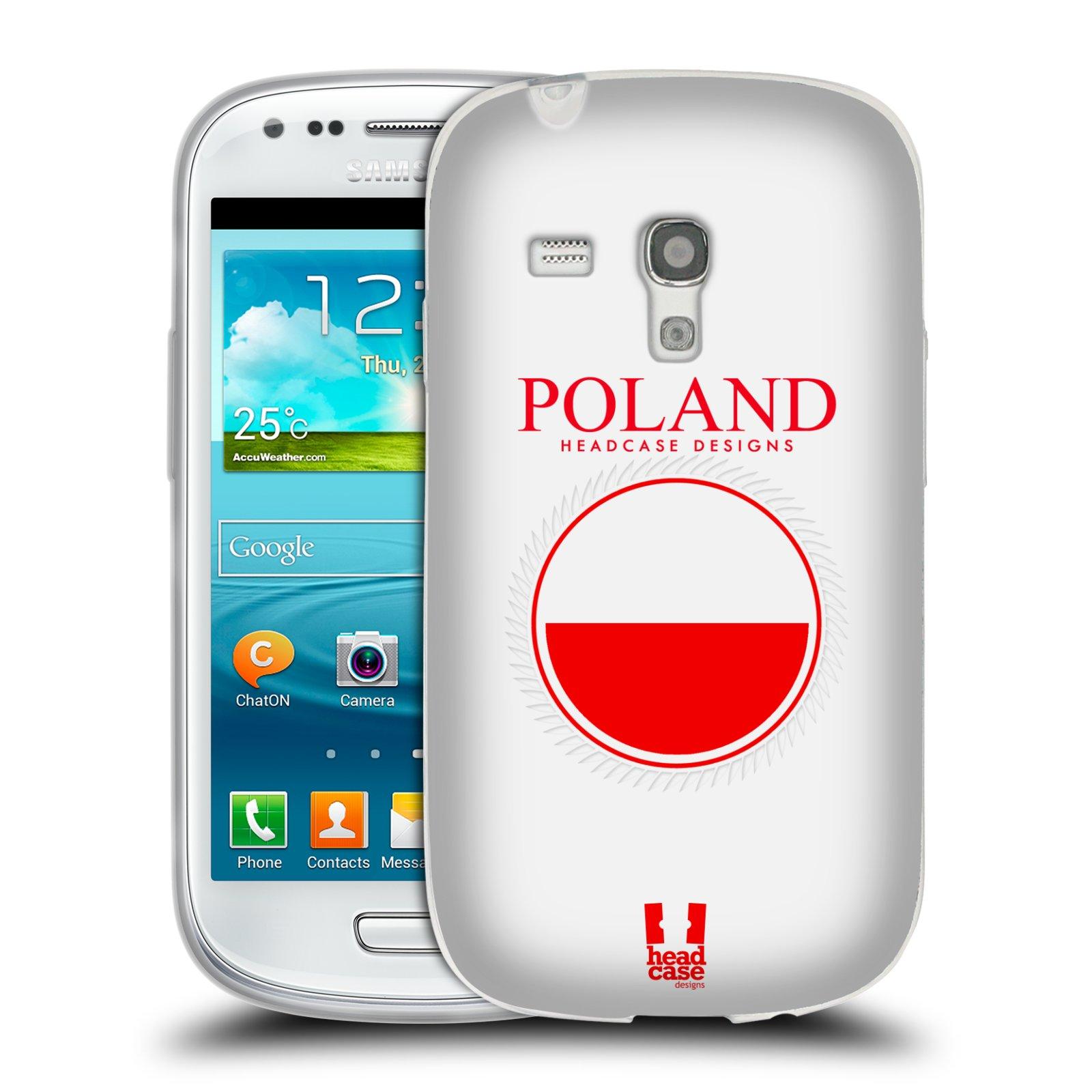 HEAD CASE silikonový obal na mobil Samsung Galaxy S3 MINI i8190 vzor Vlajky státy 2 POLSKO