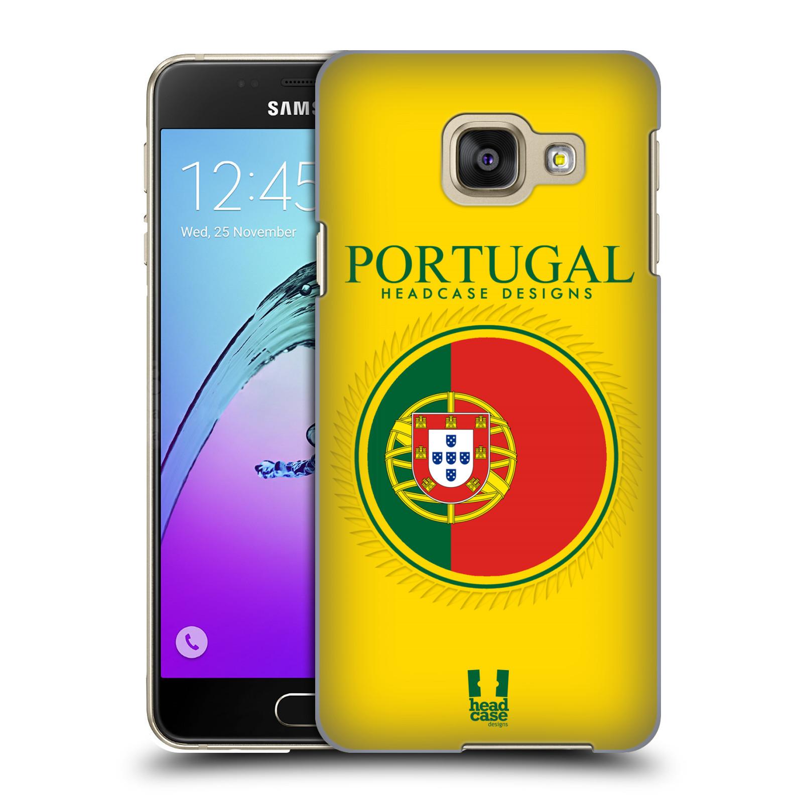 HEAD CASE plastový obal na mobil SAMSUNG GALAXY A3 (2016) vzor Vlajky státy 2 PORTUGALSKO