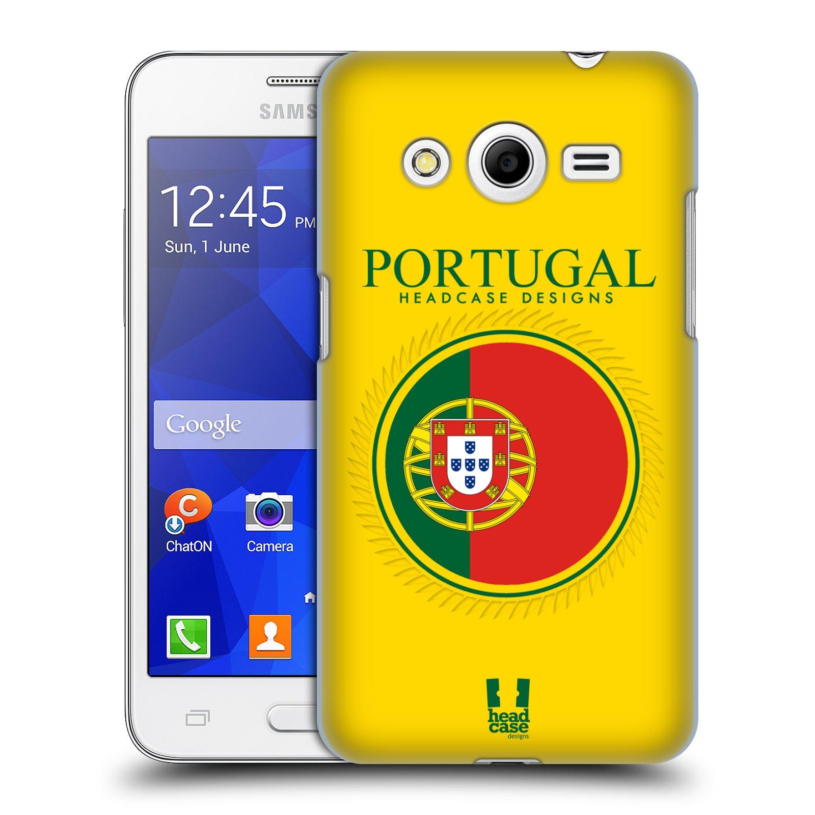HEAD CASE plastový obal na mobil SAMSUNG GALAXY Core 2 (G355H) vzor Vlajky státy 2 PORTUGALSKO
