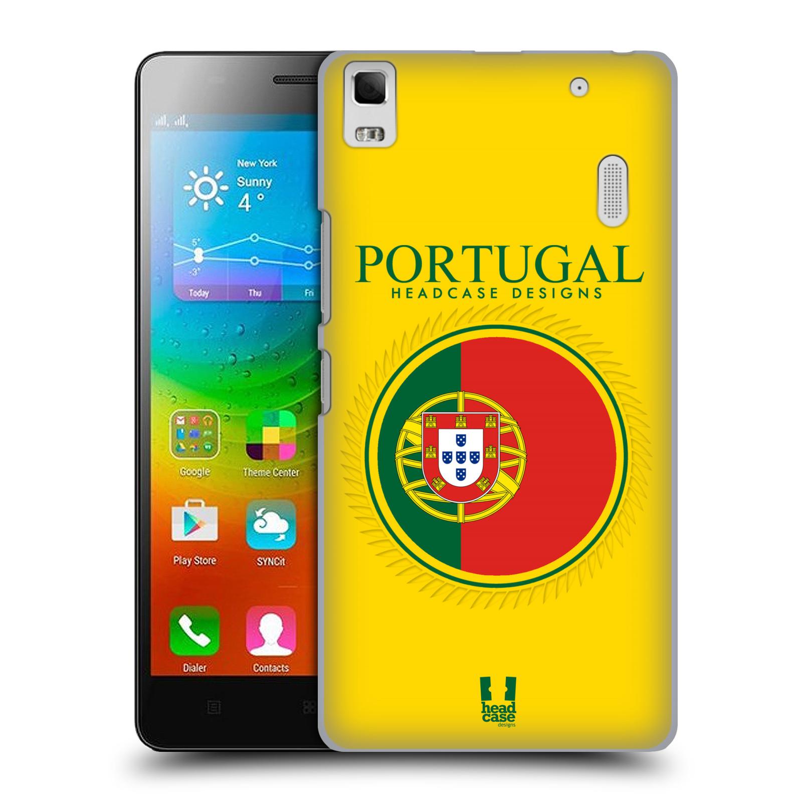 HEAD CASE pevný plastový obal na mobil LENOVO A7000 / A7000 DUAL / K3 NOTE vzor Vlajky státy 2 PORTUGALSKO