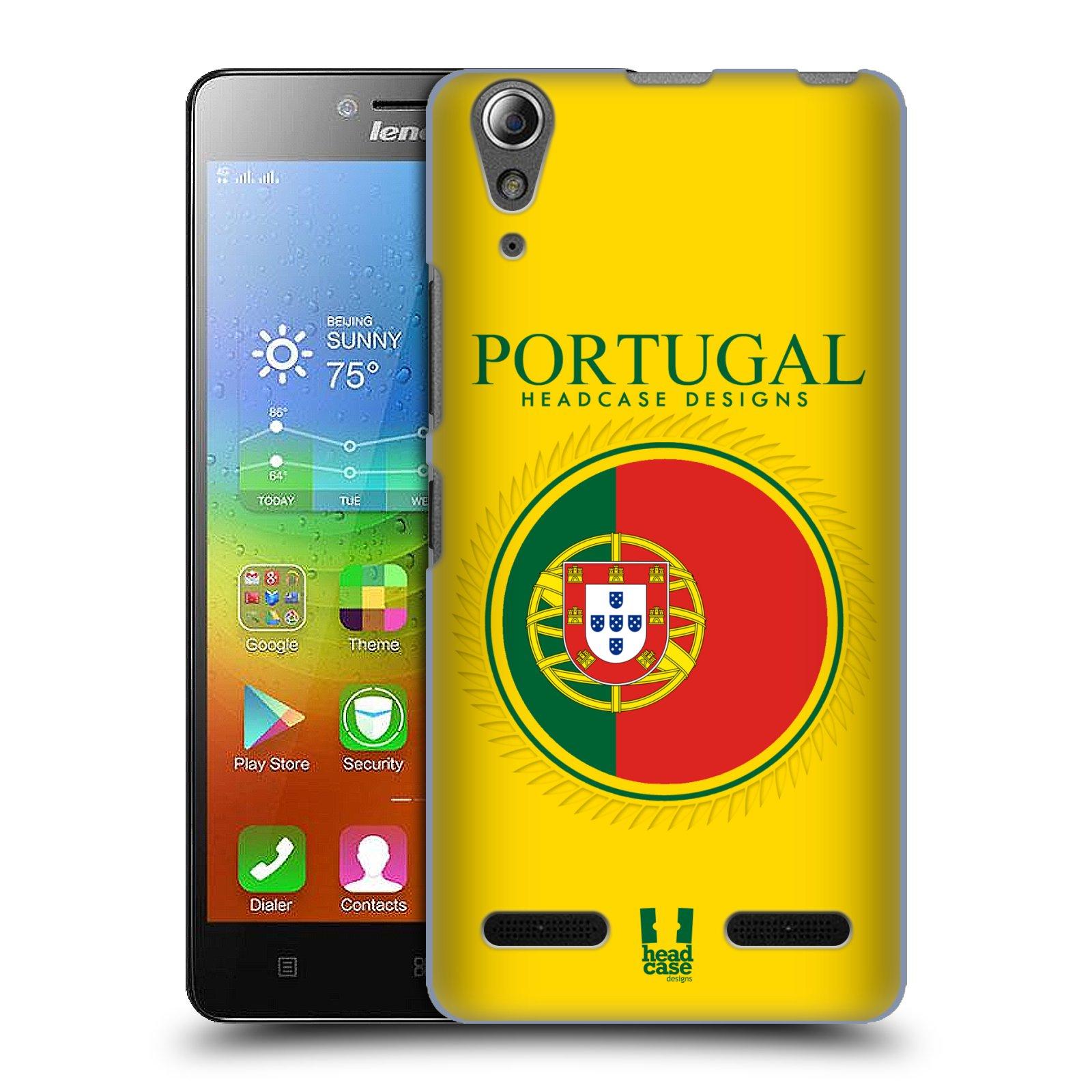 HEAD CASE pevný plastový obal na mobil LENOVO A6000 / A6000 PLUS vzor Vlajky státy 2 PORTUGALSKO