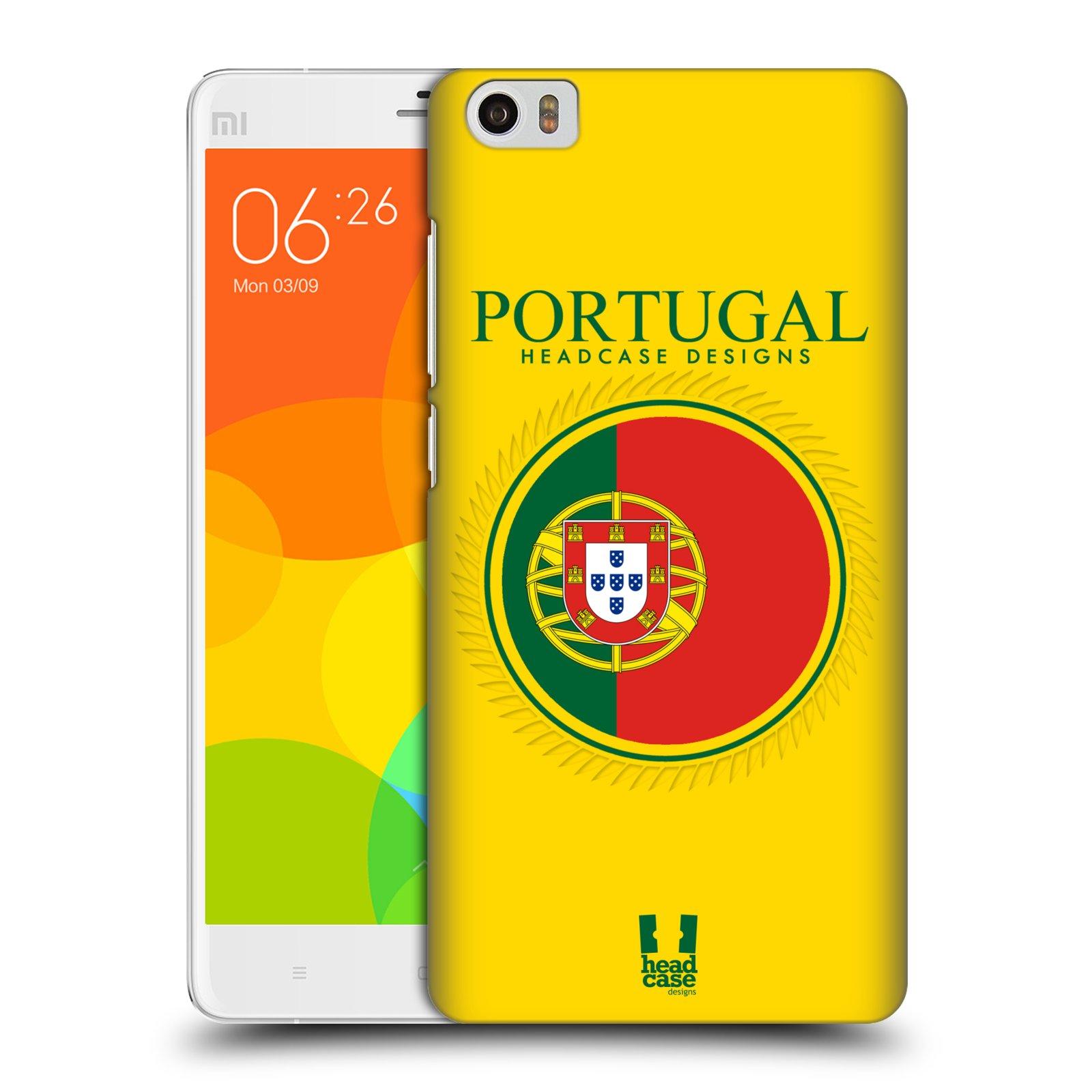 HEAD CASE pevný plastový obal na mobil XIAOMI Mi Note vzor Vlajky státy 2 PORTUGALSKO