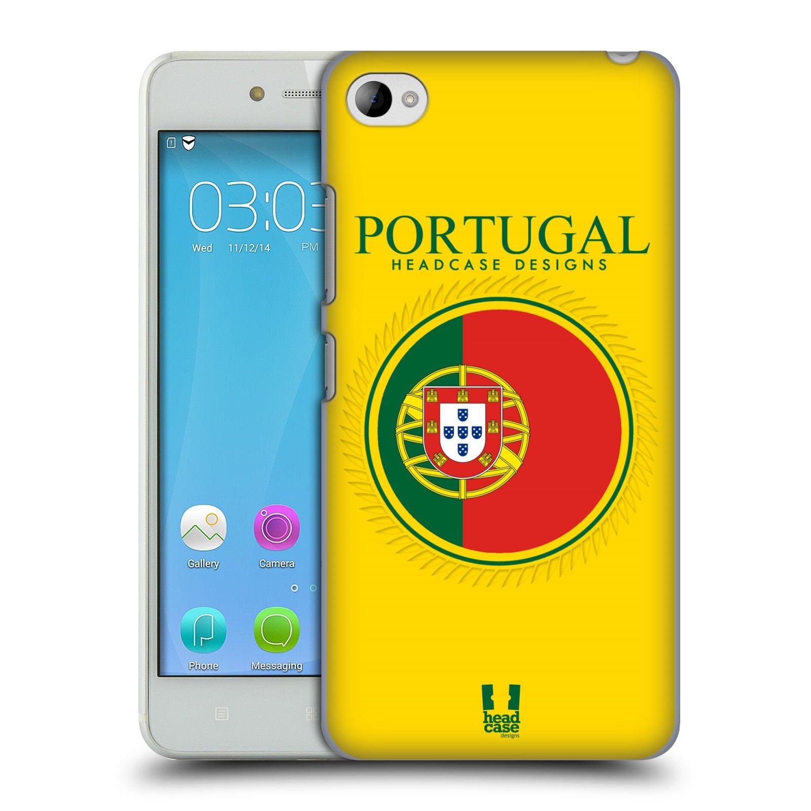 HEAD CASE pevný plastový obal na mobil LENOVO S90 vzor Vlajky státy 2 PORTUGALSKO