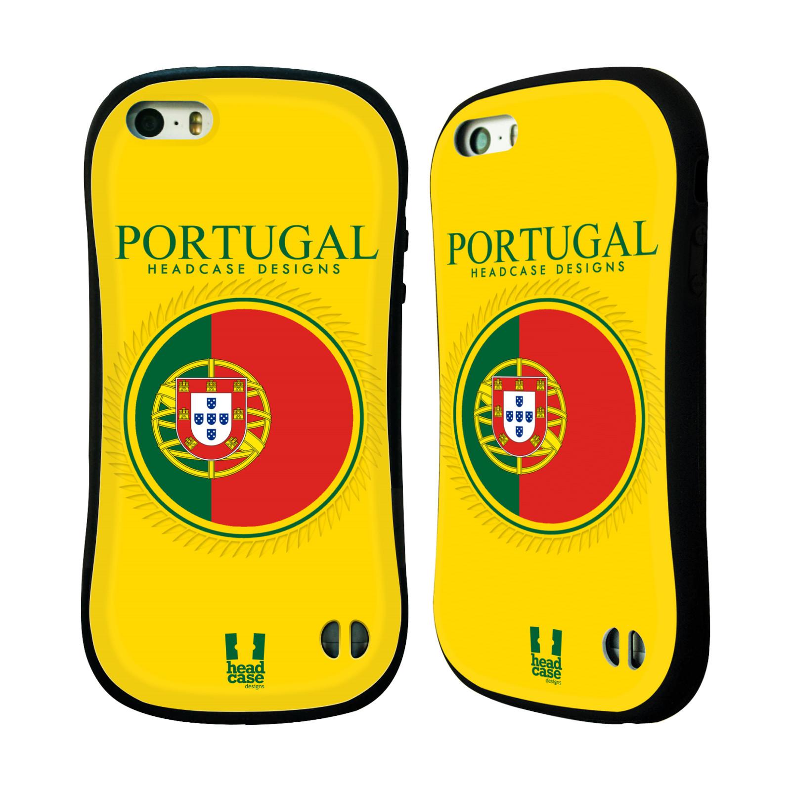 HEAD CASE silikon/plast odolný obal na mobil Apple Iphone 5/5S vzor Vlajky státy 2 PORTUGALSKO