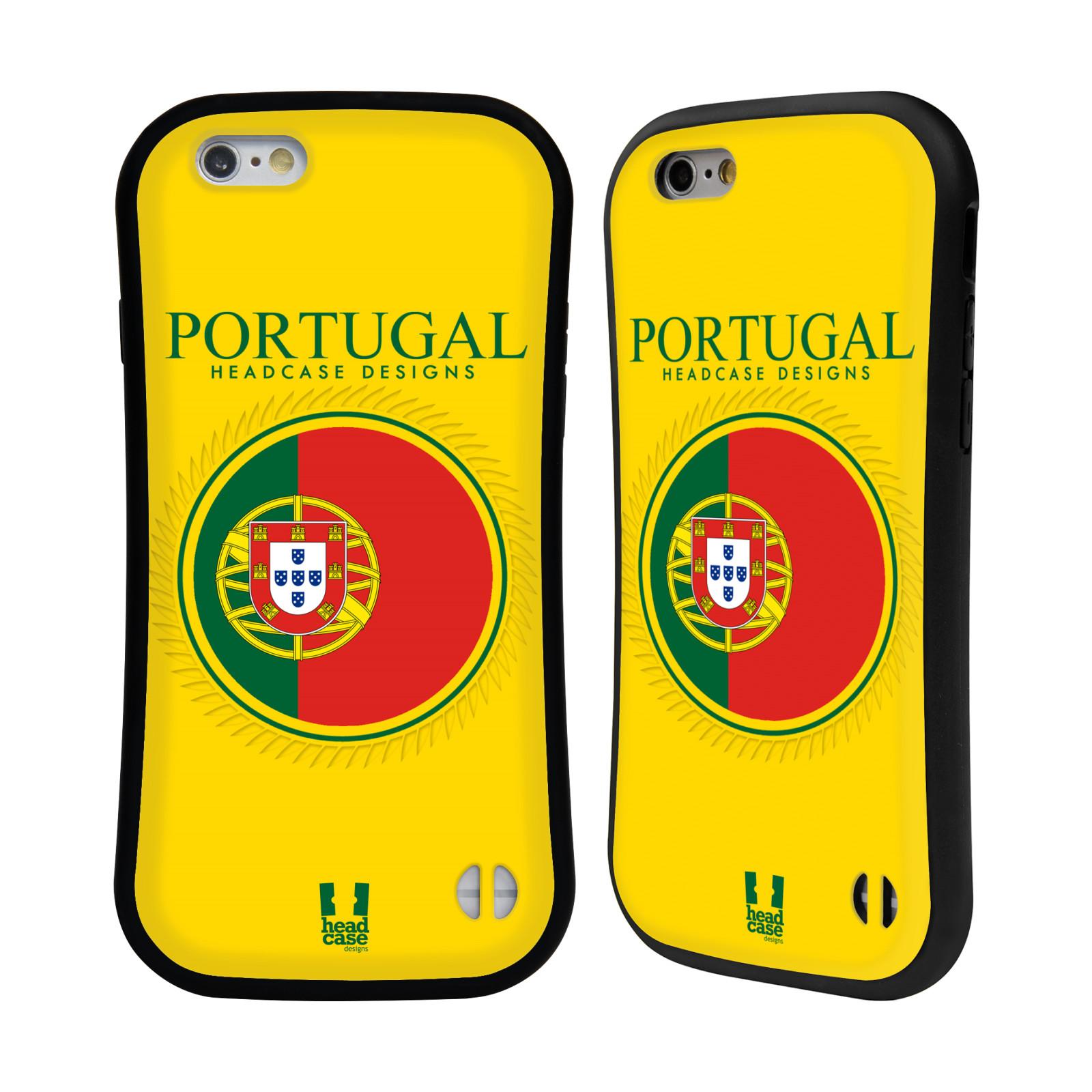 HEAD CASE silikon/plast odolný obal na mobil Apple Iphone 6/6S vzor Vlajky státy 2 PORTUGALSKO