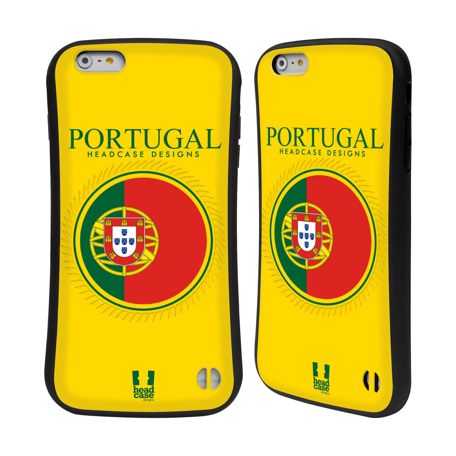 HEAD CASE silikon/plast odolný obal na mobil Apple Iphone 6 PLUS / 6S PLUS vzor Vlajky státy 2 PORTUGALSKO
