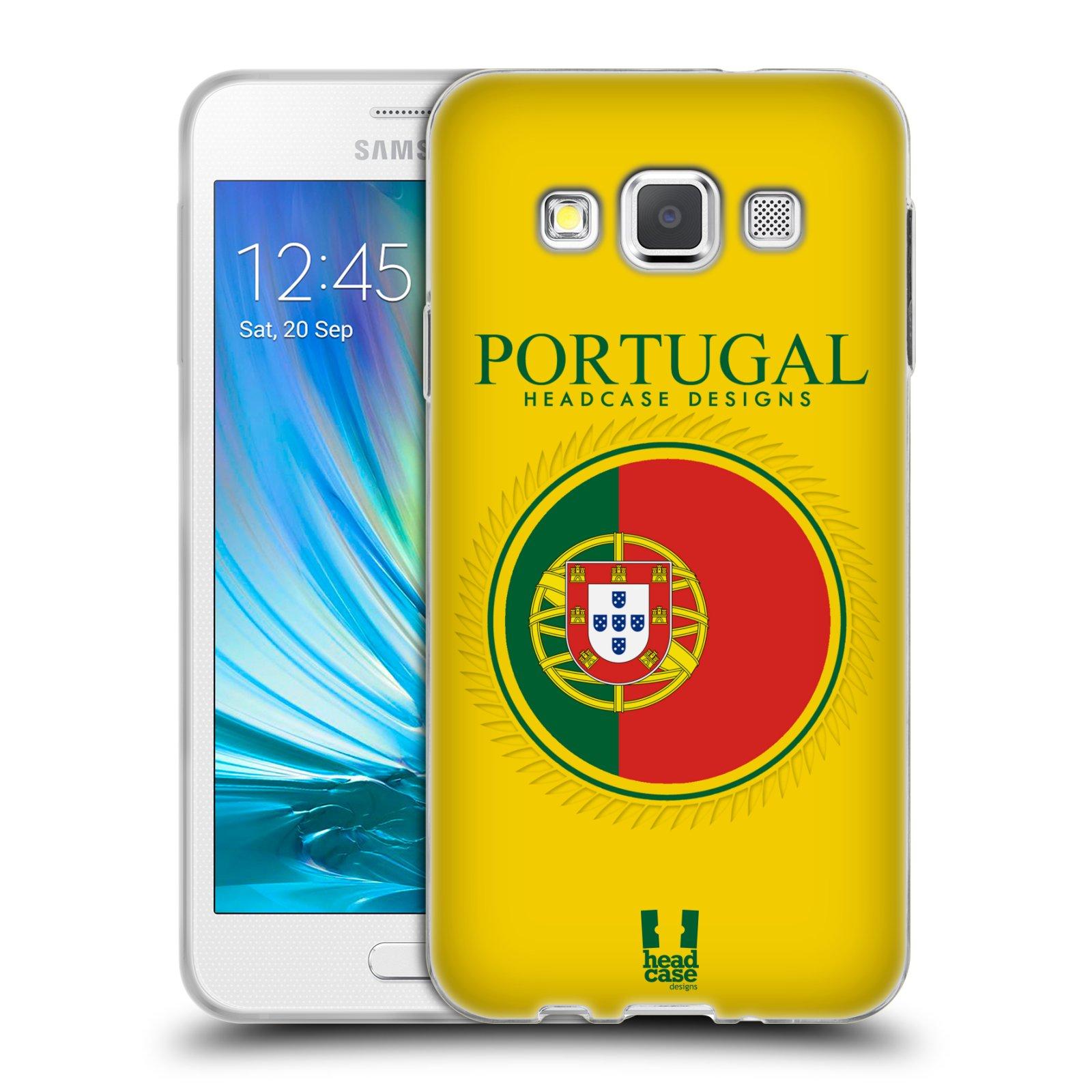 HEAD CASE silikonový obal na mobil Samsung Galaxy A3 vzor Vlajky státy 2 PORTUGALSKO
