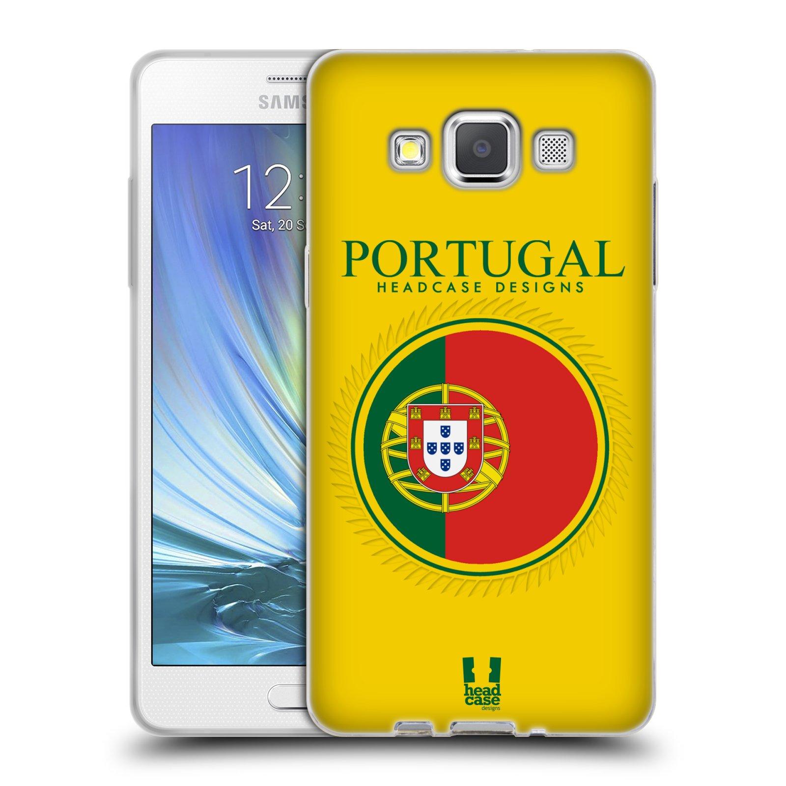 HEAD CASE silikonový obal na mobil Samsung Galaxy A5 vzor Vlajky státy 2 PORTUGALSKO