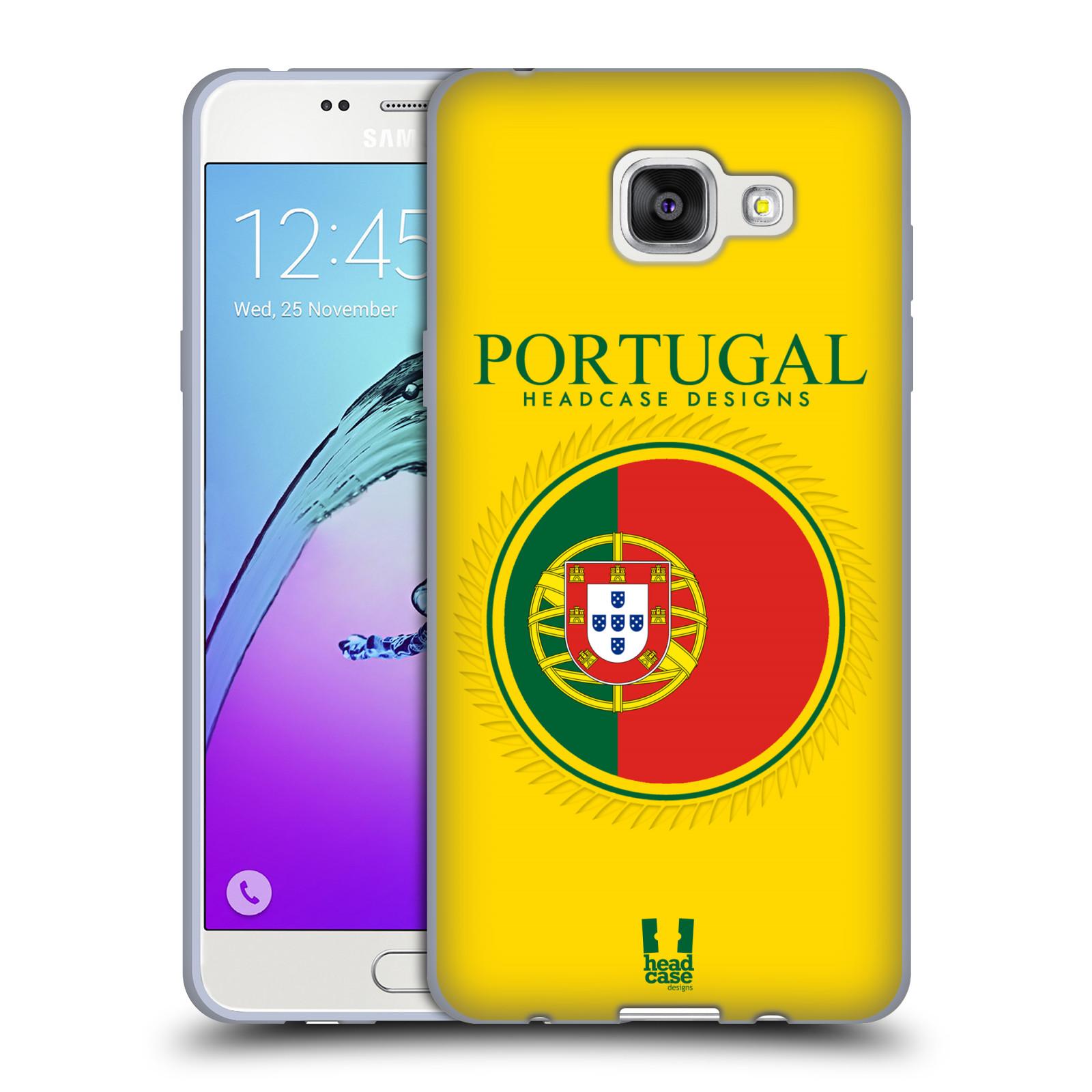 HEAD CASE silikonový obal na mobil Samsung Galaxy A5 (2016) vzor Vlajky státy 2 PORTUGALSKO