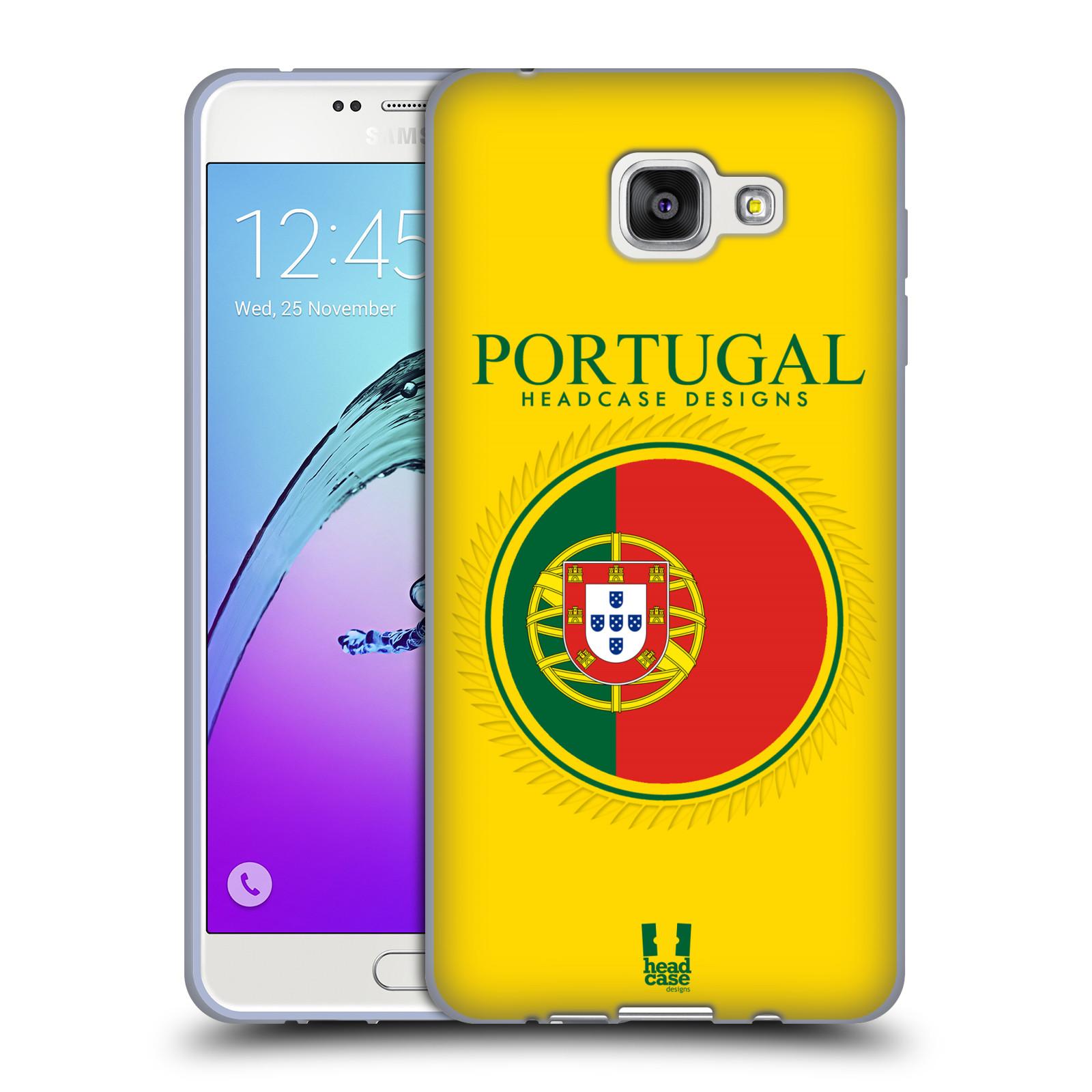 HEAD CASE silikonový obal na mobil Samsung Galaxy A7 (2016) vzor Vlajky státy 2 PORTUGALSKO