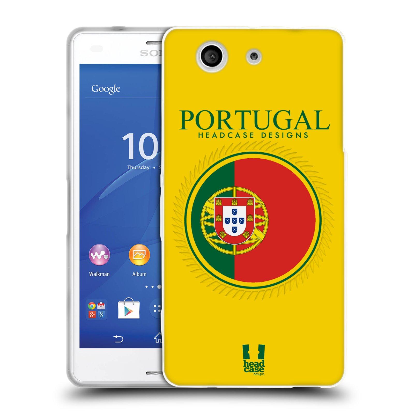 HEAD CASE silikonový obal na mobil Sony Xperia Z3 COMPACT (D5803) vzor Vlajky státy 2 PORTUGALSKO