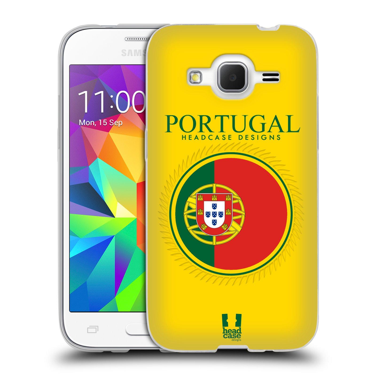 HEAD CASE silikonový obal na mobil Samsung Galaxy Core Prime (G360) vzor Vlajky státy 2 PORTUGALSKO