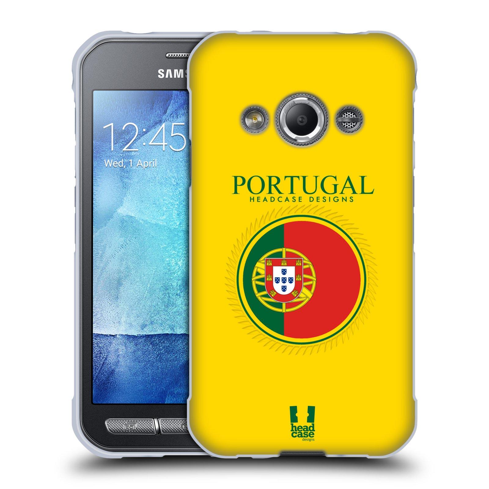 HEAD CASE silikonový obal na mobil Samsung Galaxy Xcover 3 vzor Vlajky státy 2 PORTUGALSKO