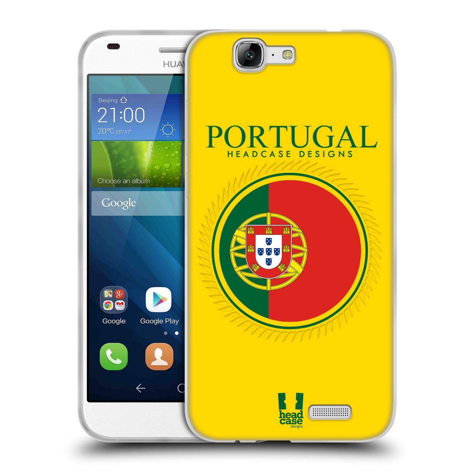 HEAD CASE silikonový obal na mobil HUAWEI Ascend G7 vzor Vlajky státy 2 PORTUGALSKO