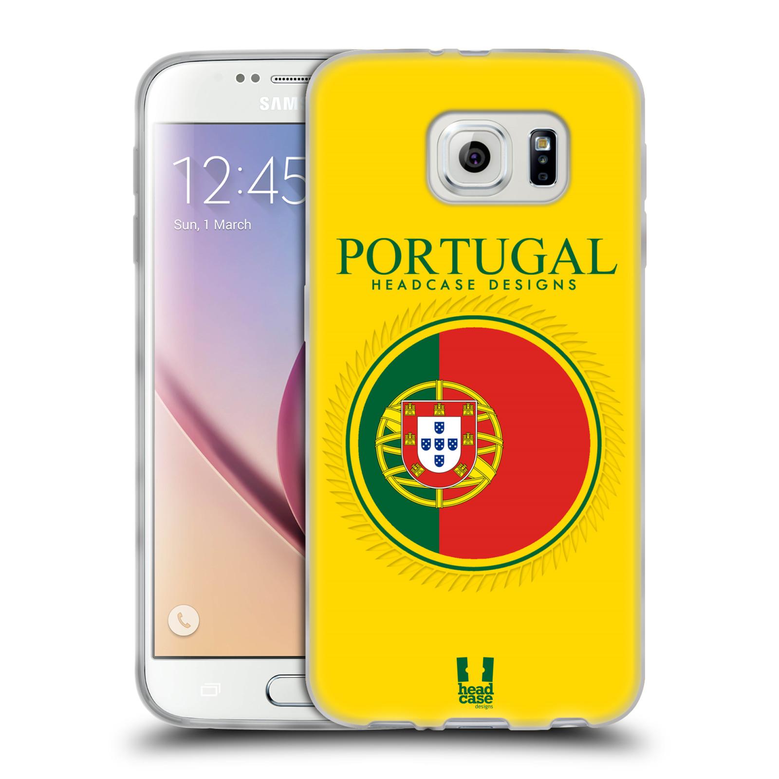 HEAD CASE silikonový obal na mobil Samsung Galaxy S6 vzor Vlajky státy 2 PORTUGALSKO