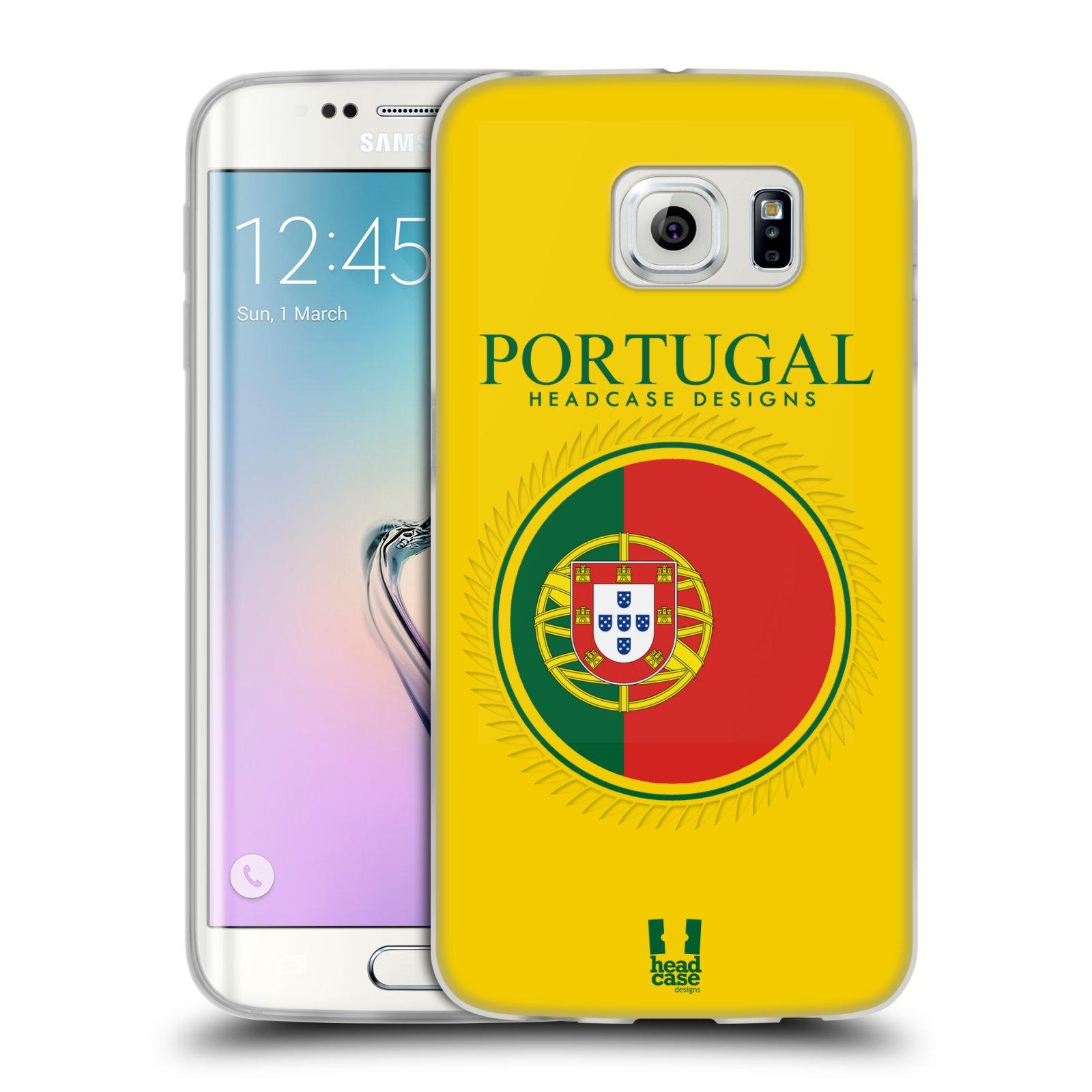 HEAD CASE silikonový obal na mobil Samsung Galaxy S6 EDGE vzor Vlajky státy 2 PORTUGALSKO