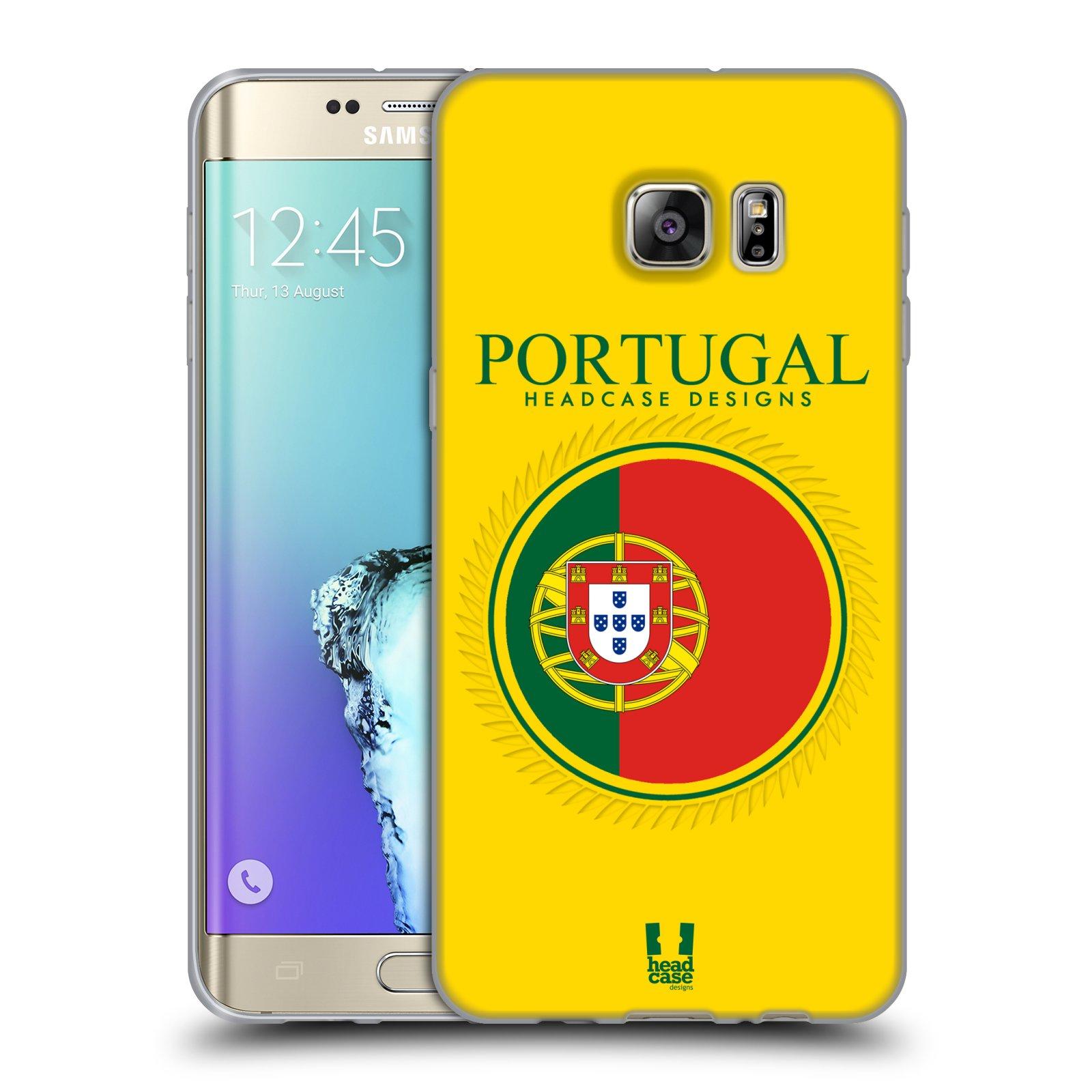 HEAD CASE silikonový obal na mobil Samsung Galaxy S6 EDGE PLUS vzor Vlajky státy 2 PORTUGALSKO