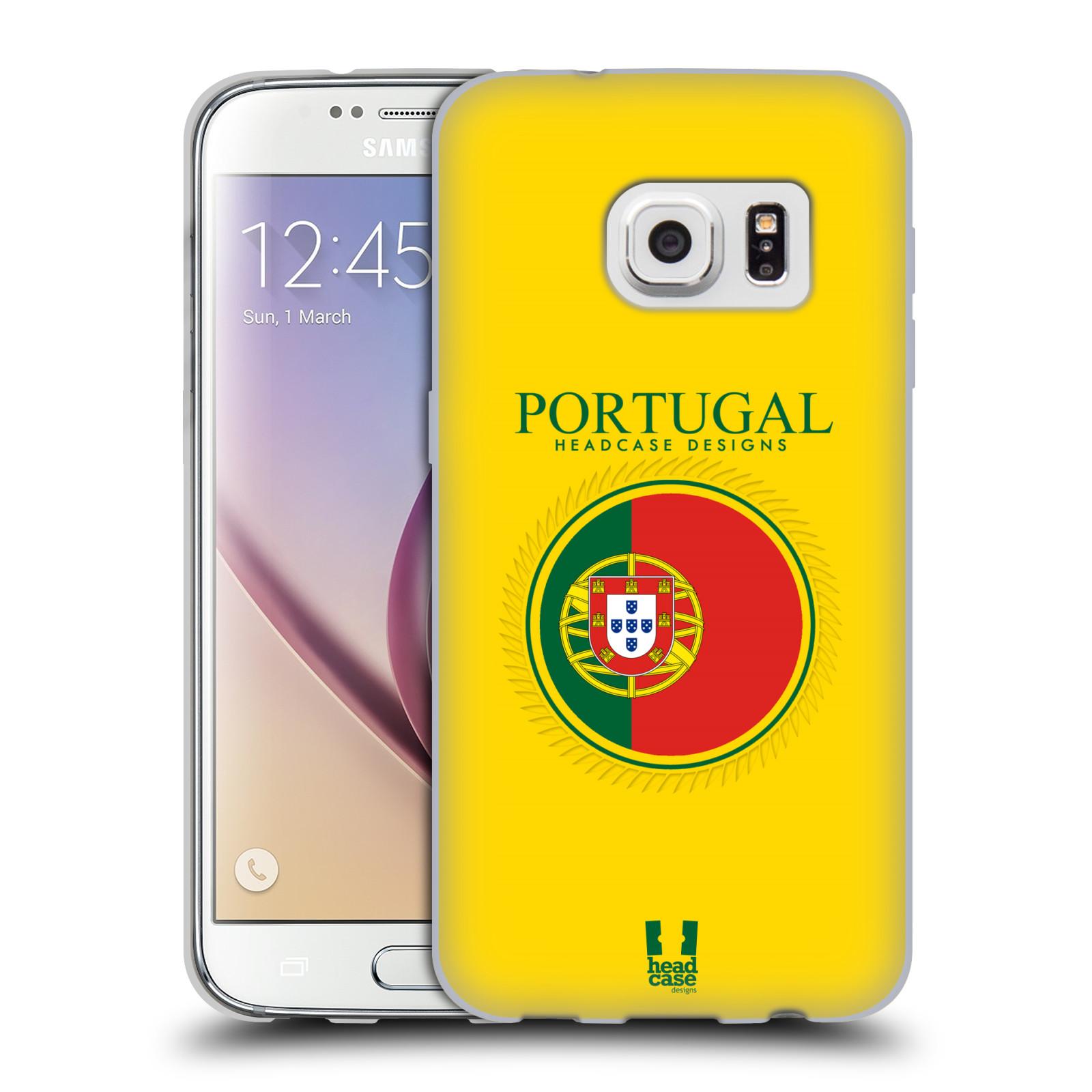 HEAD CASE silikonový obal na mobil Samsung Galaxy S7 vzor Vlajky státy 2 PORTUGALSKO