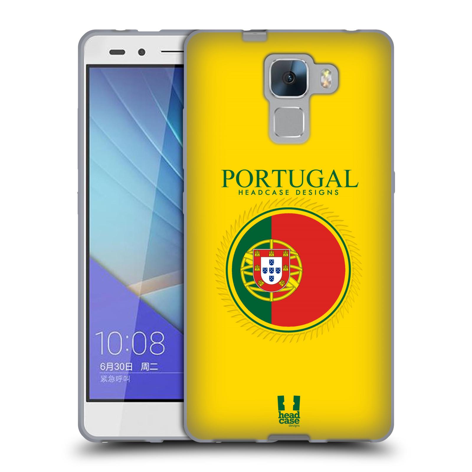 HEAD CASE silikonový obal na mobil HUAWEI HONOR 7 vzor Vlajky státy 2 PORTUGALSKO