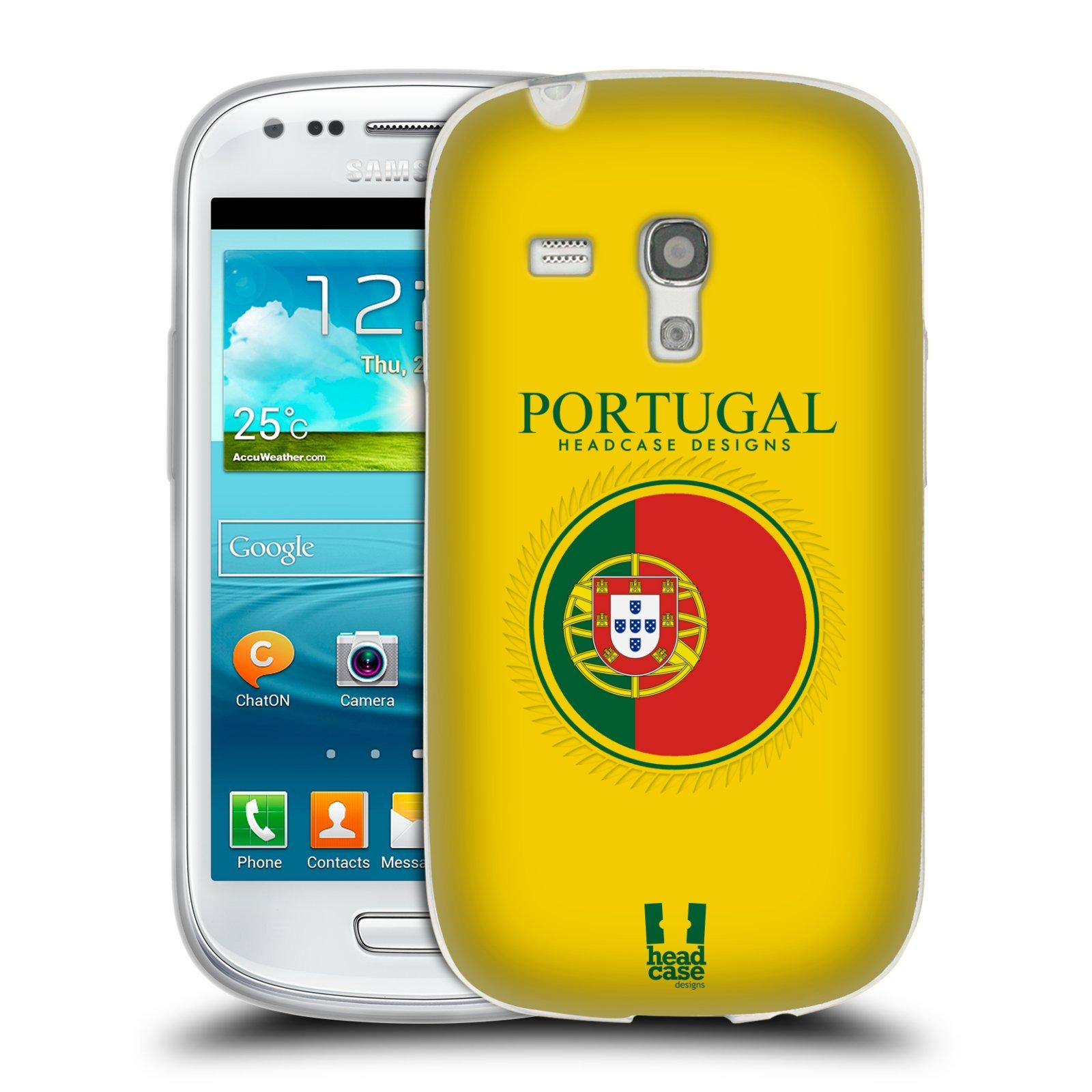 HEAD CASE silikonový obal na mobil Samsung Galaxy S3 MINI i8190 vzor Vlajky státy 2 PORTUGALSKO