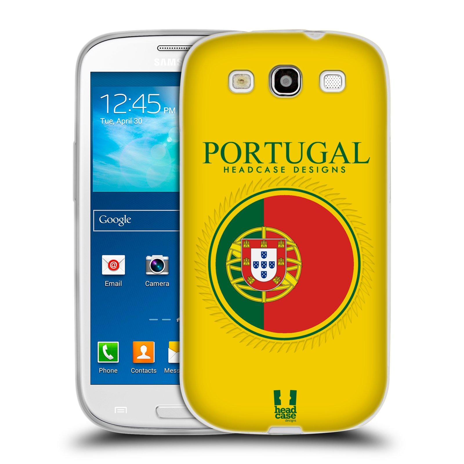 HEAD CASE silikonový obal na mobil Samsung Galaxy S3 i9300 vzor Vlajky státy 2 PORTUGALSKO