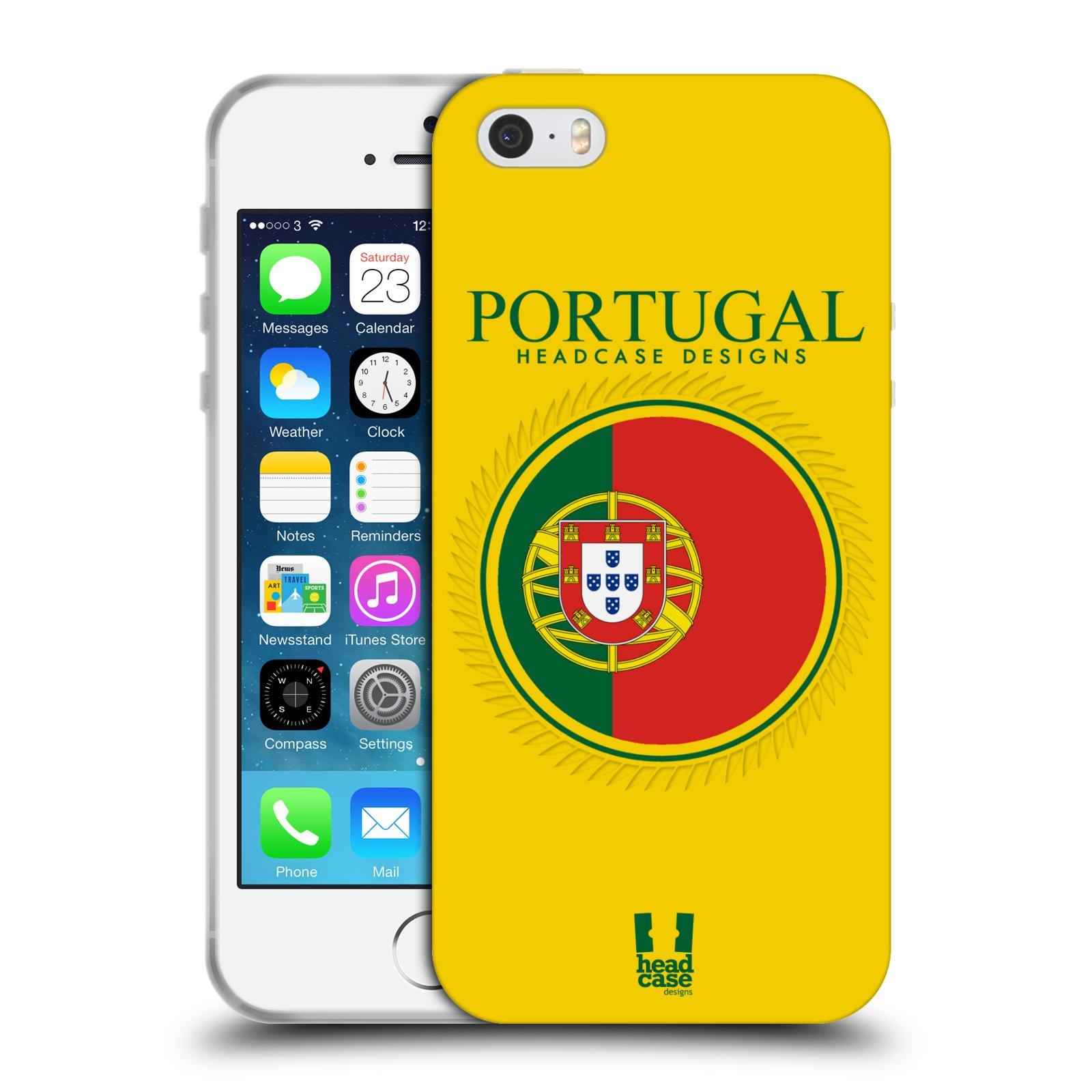 HEAD CASE silikonový obal na mobil Apple Iphone 5/5S vzor Vlajky státy 2 PORTUGALSKO