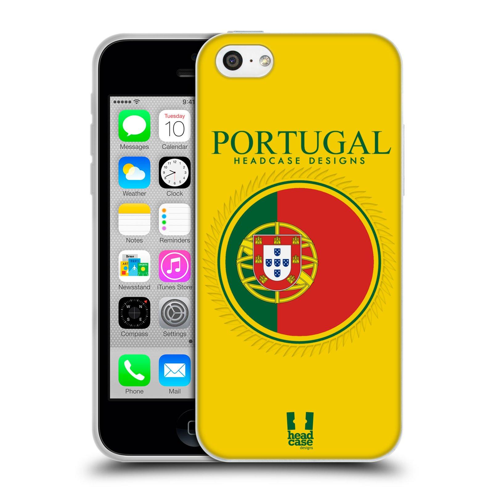 HEAD CASE silikonový obal na mobil Apple Iphone 5C vzor Vlajky státy 2 PORTUGALSKO