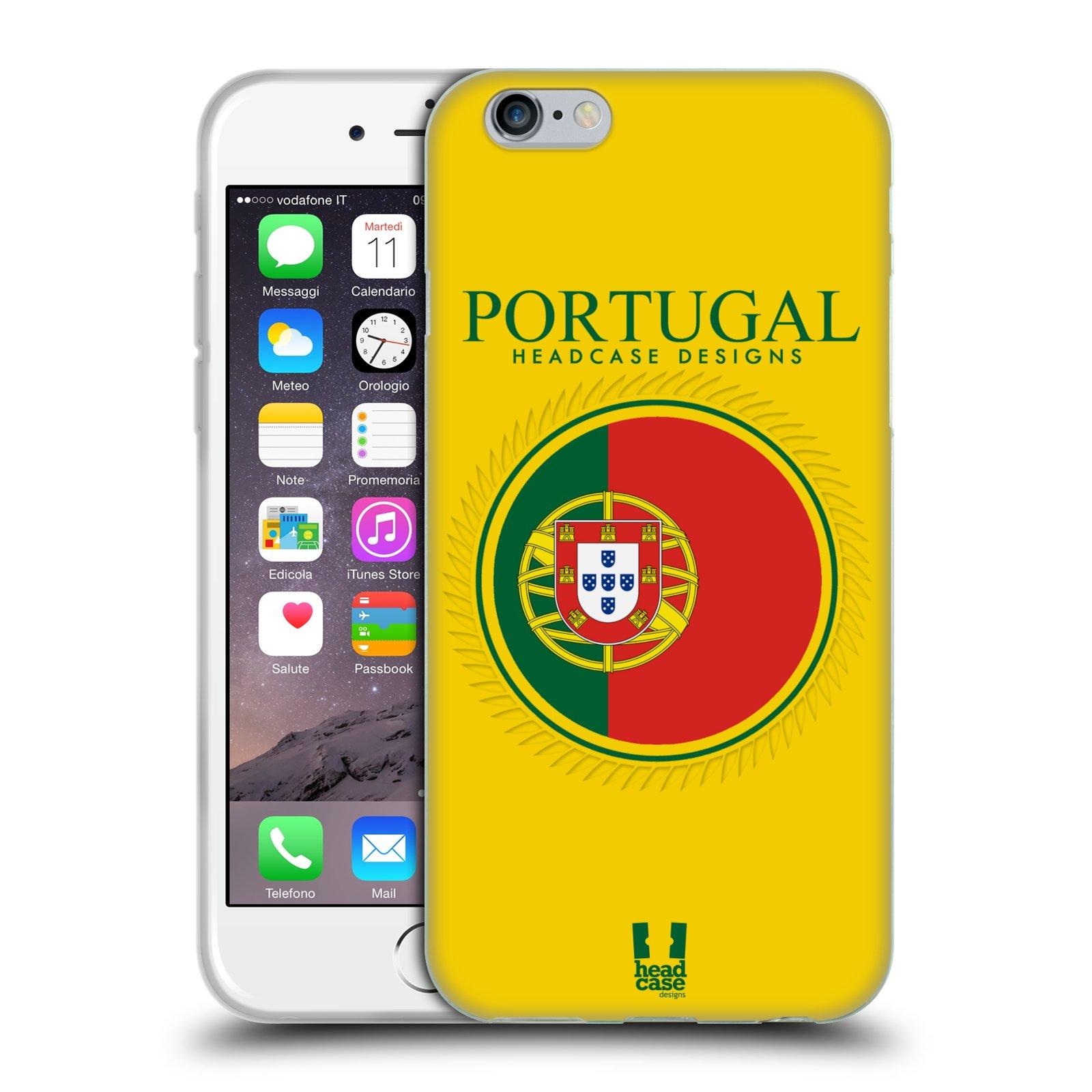 HEAD CASE silikonový obal na mobil Apple Iphone 6/6S vzor Vlajky státy 2 PORTUGALSKO