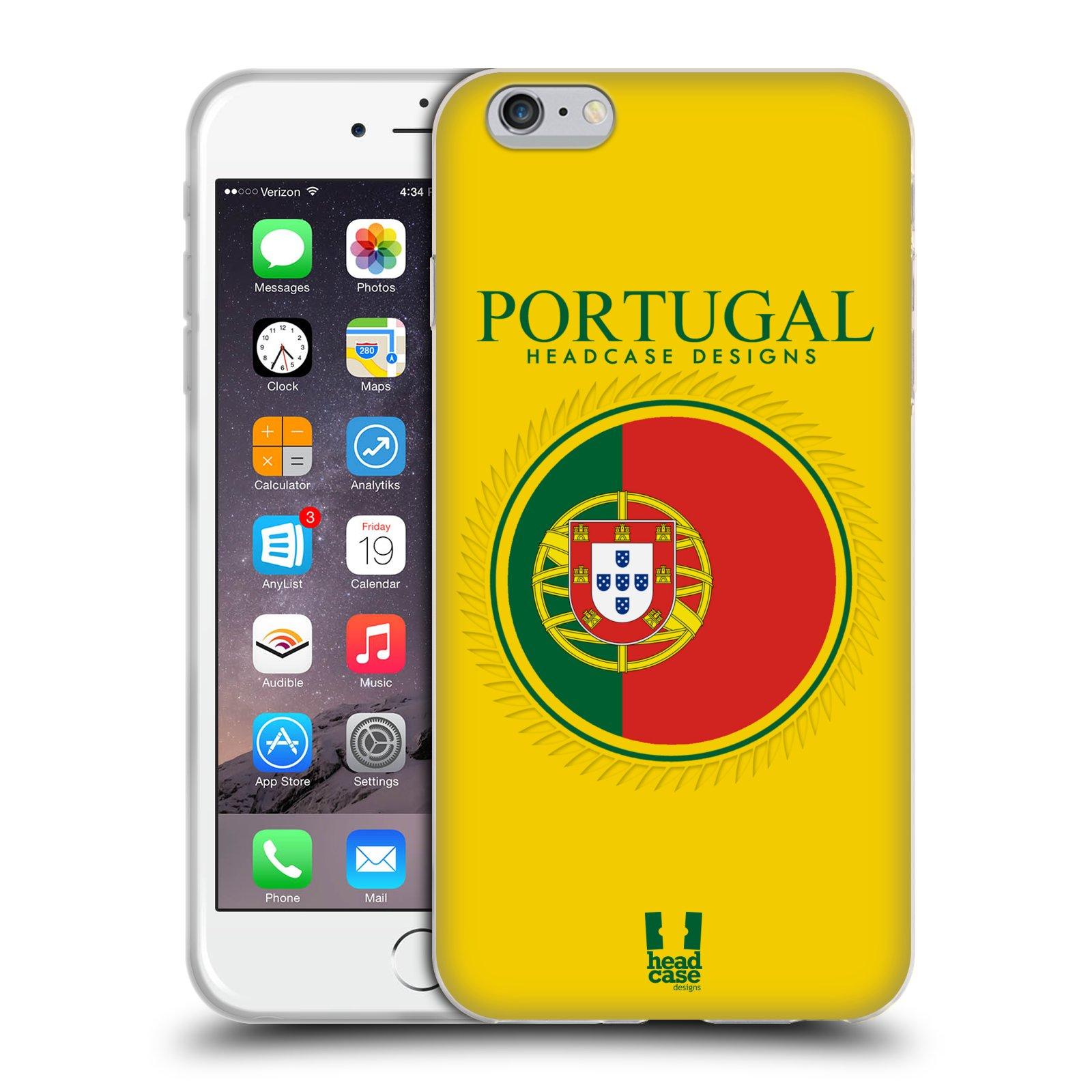 HEAD CASE silikonový obal na mobil Apple Iphone 6 PLUS/ 6S PLUS vzor Vlajky státy 2 PORTUGALSKO