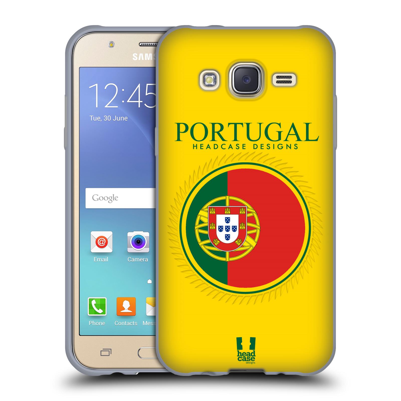 HEAD CASE silikonový obal na mobil Samsung Galaxy J5, J500, (J5 DUOS) vzor Vlajky státy 2 PORTUGALSKO
