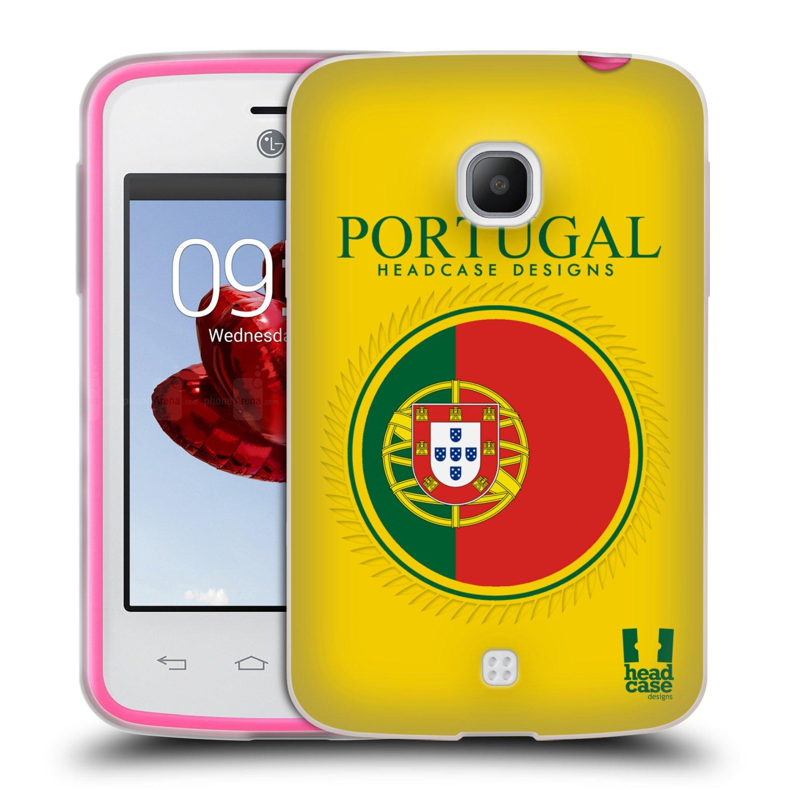 HEAD CASE silikonový obal na mobil LG L30 vzor Vlajky státy 2 PORTUGALSKO