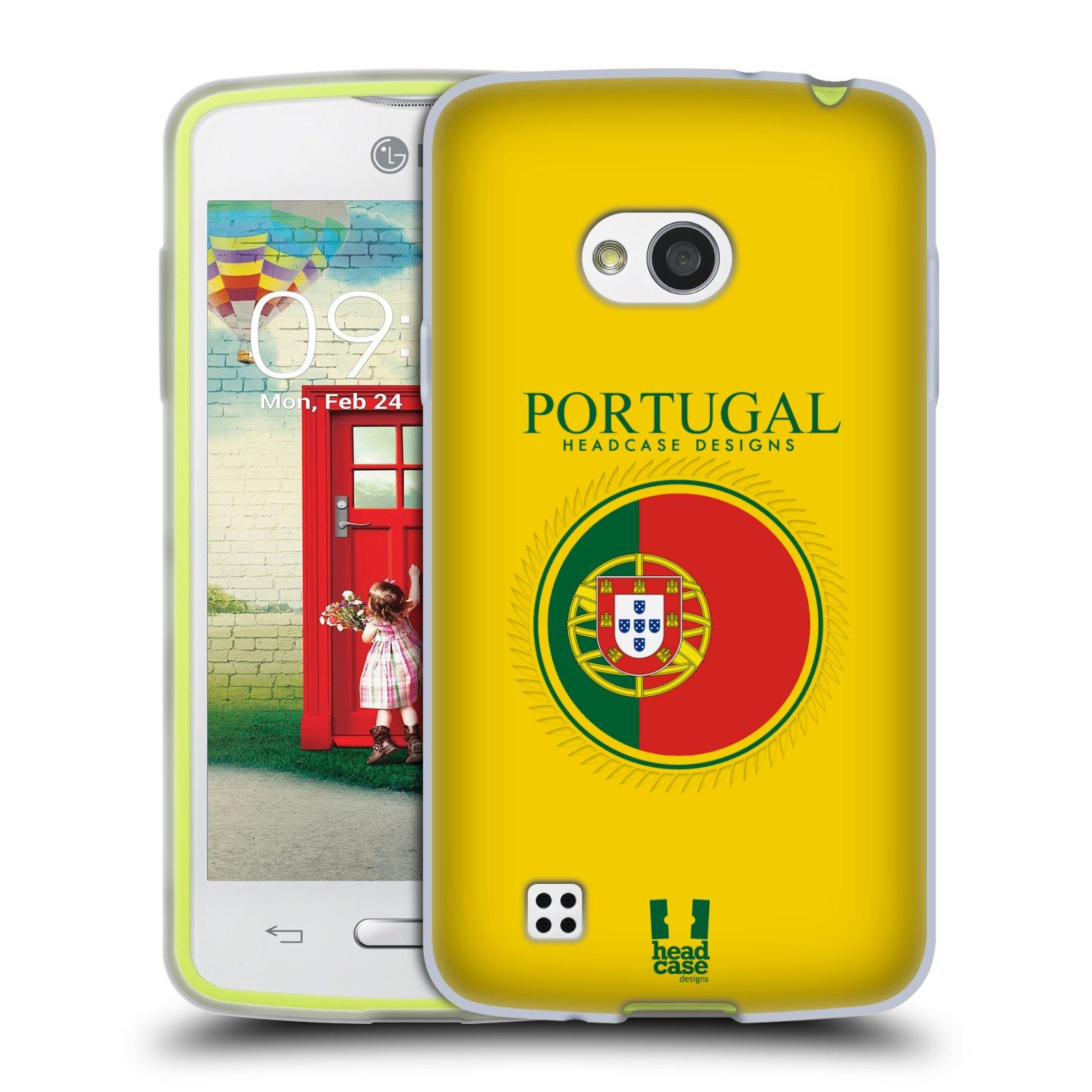 HEAD CASE silikonový obal na mobil LG L50 vzor Vlajky státy 2 PORTUGALSKO