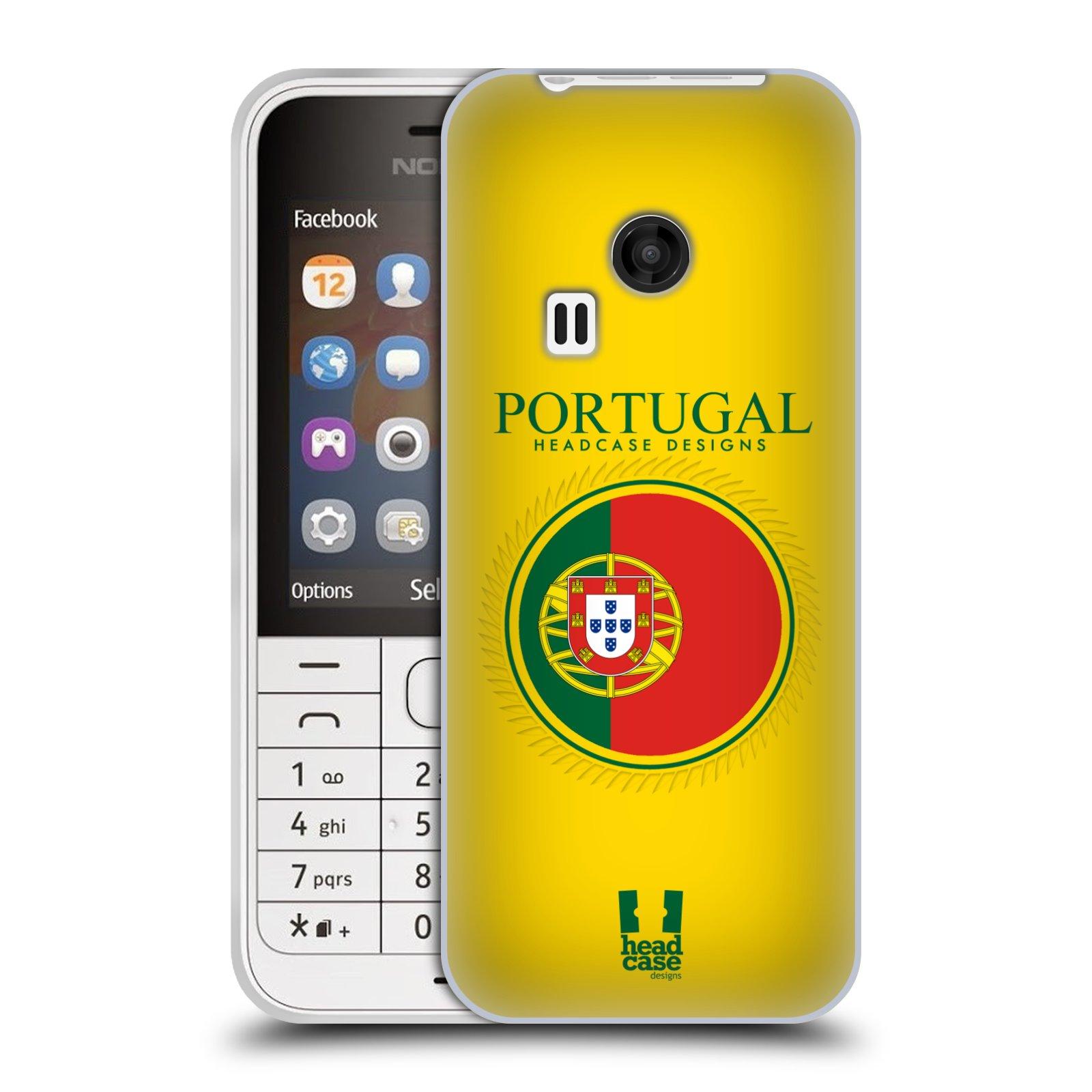 HEAD CASE silikonový obal na mobil NOKIA 220 / NOKIA 220 DUAL SIM vzor Vlajky státy 2 PORTUGALSKO