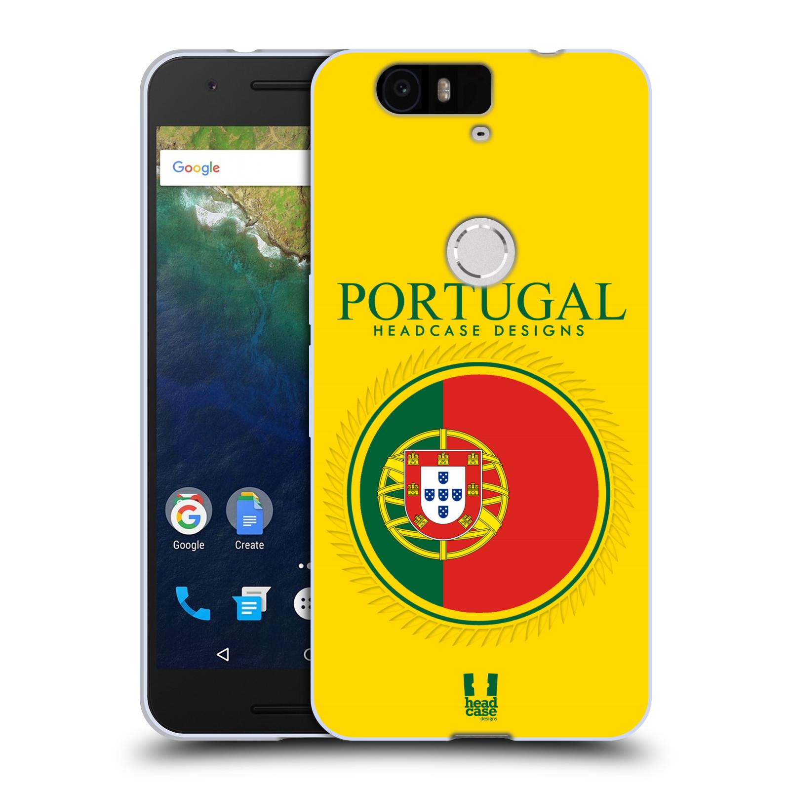 HEAD CASE silikonový obal na mobil HUAWEI NEXUS 6P vzor Vlajky státy 2 PORTUGALSKO