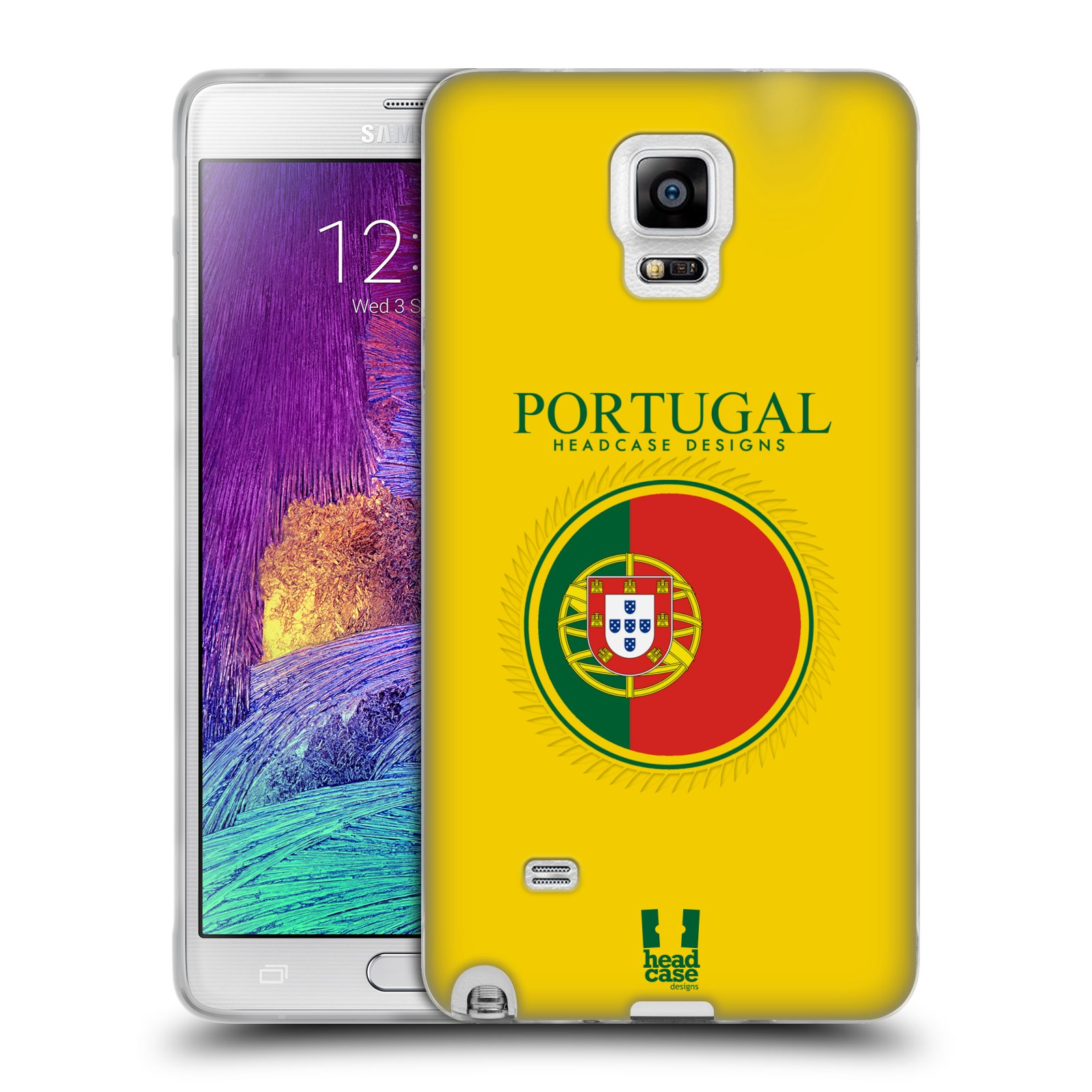 HEAD CASE silikonový obal na mobil Samsung Galaxy Note 4 (N910) vzor Vlajky státy 2 PORTUGALSKO