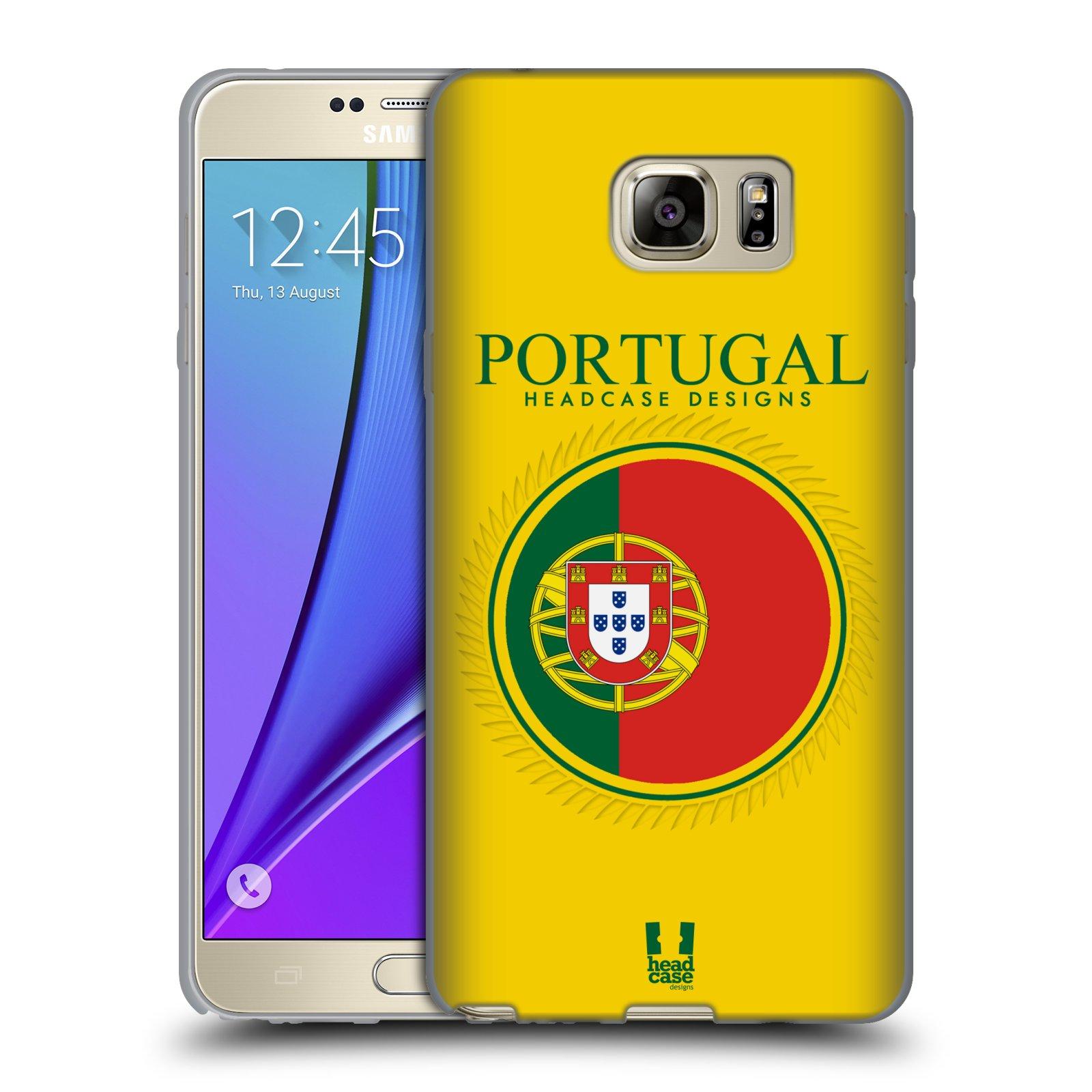 HEAD CASE silikonový obal na mobil Samsung Galaxy Note 5 (N920) vzor Vlajky státy 2 PORTUGALSKO